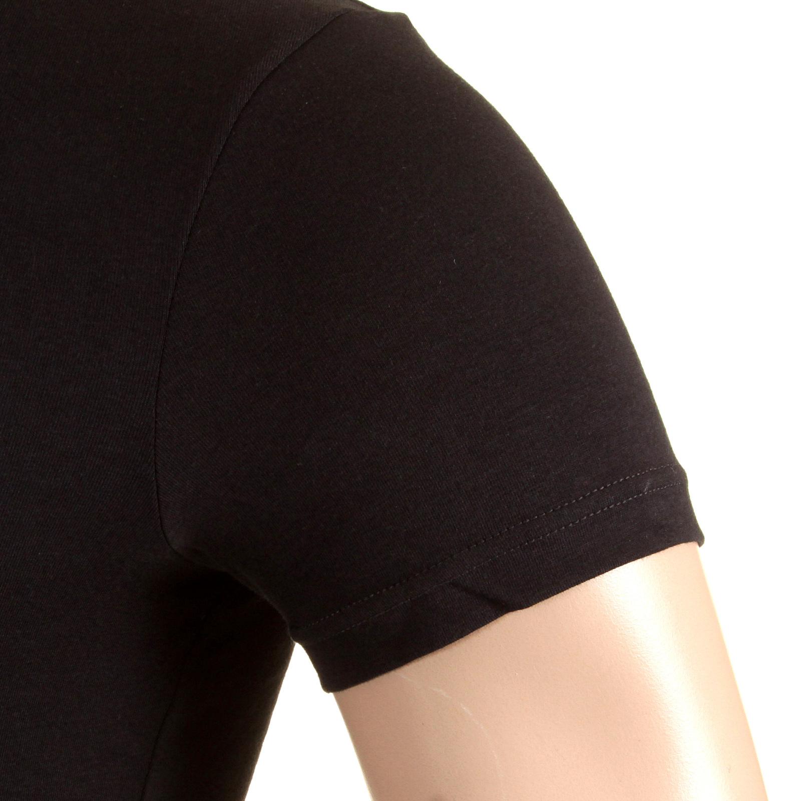 d9ae9ac98ff4b Emporio Armani t shirts black V neck t shirt 110752 CC518 EAM2388 at ...