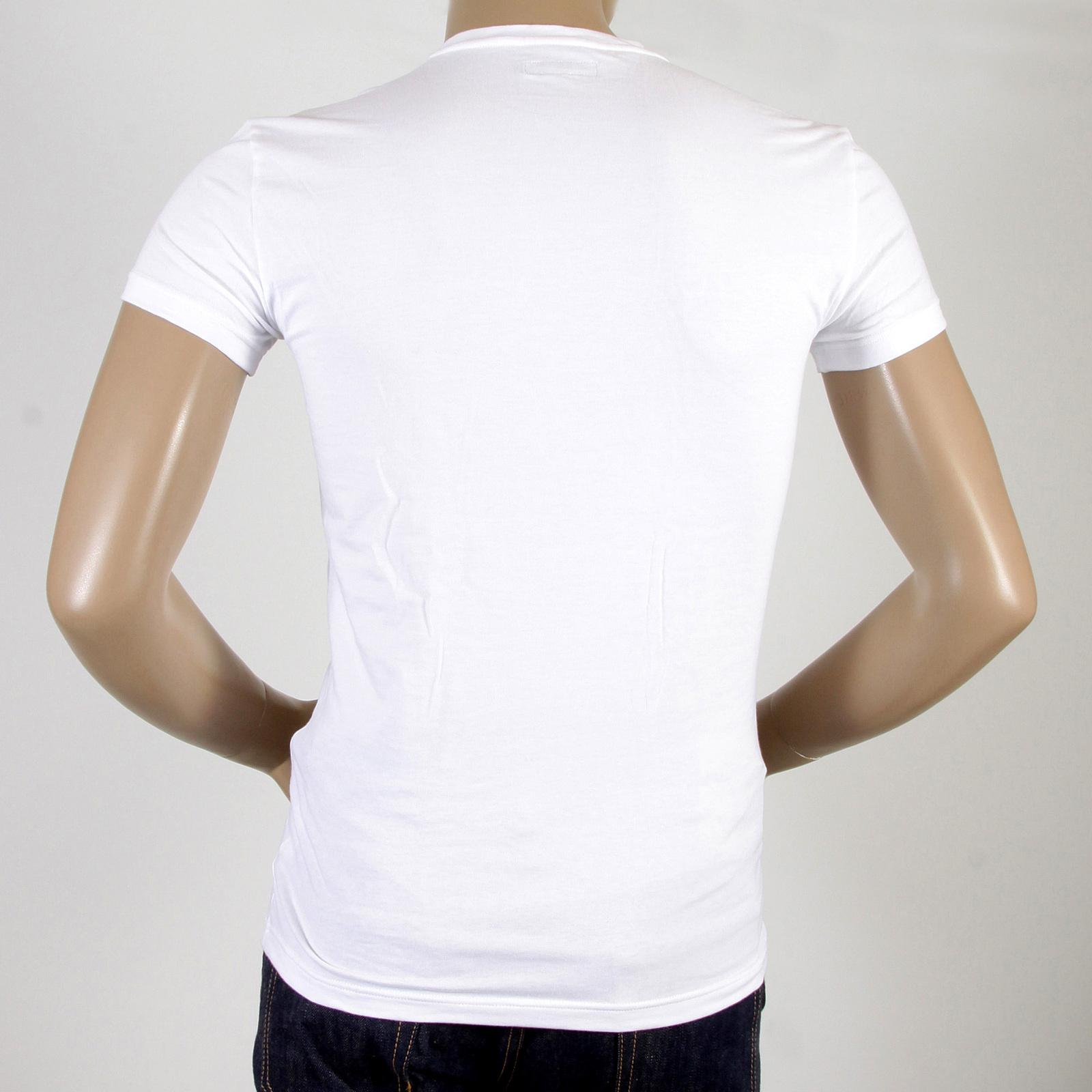 4a846af9ac5bd Emporio Armani t shirts white V neck t shirt 110752 CC518 EAM2386 at ...