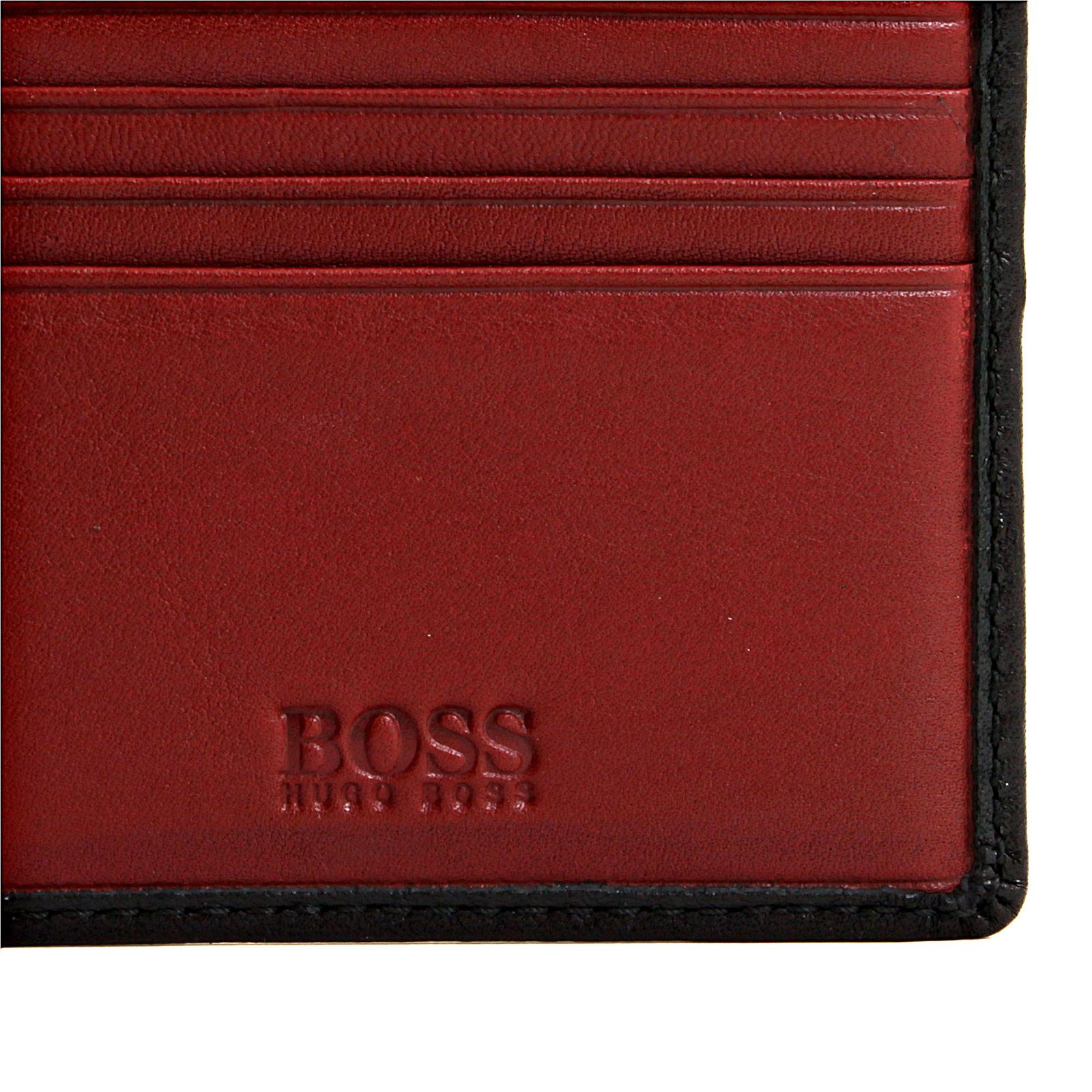 Boss Black Salve 50195636 black leather Hugo Boss wallet BOSS0836 ...