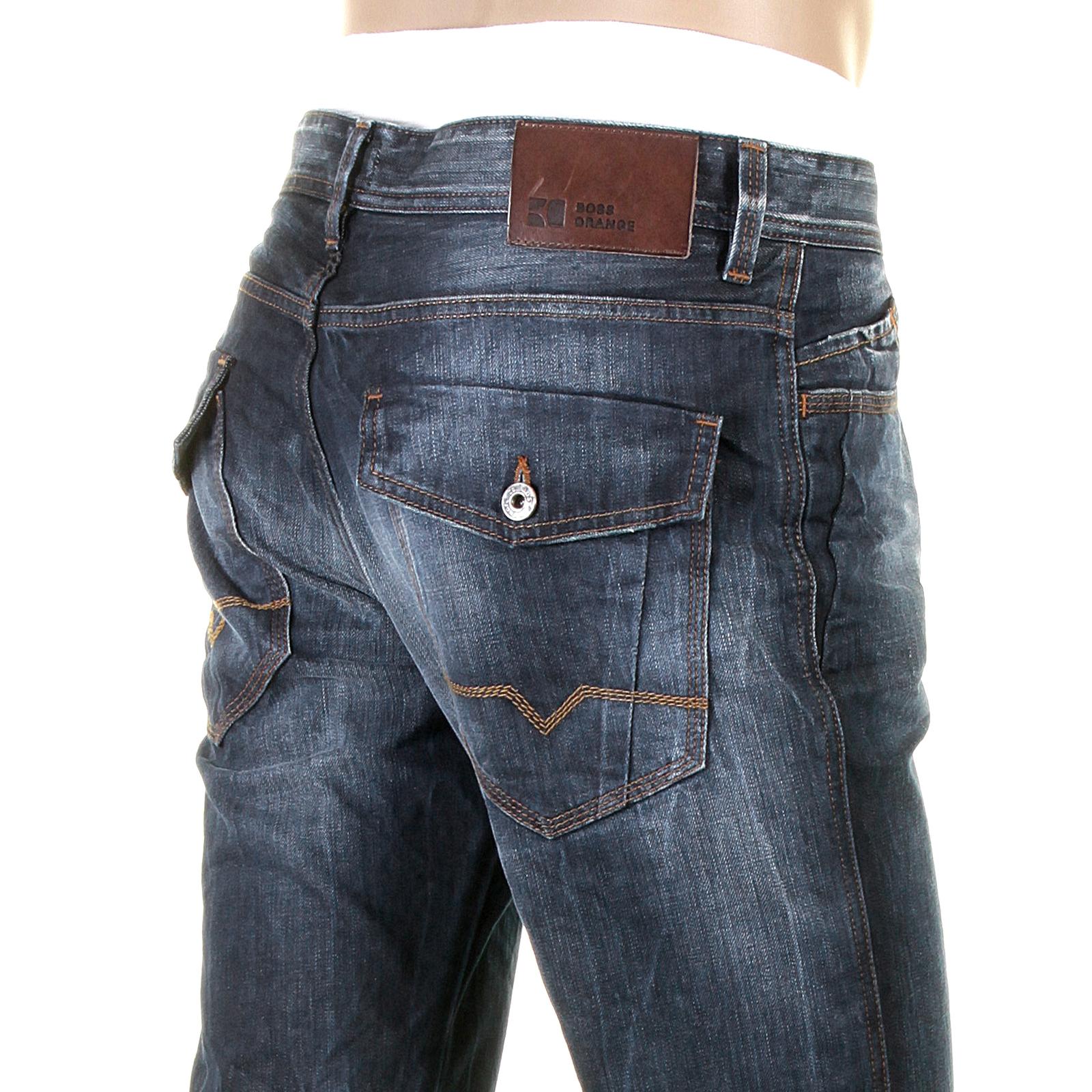 boss orange jeans vintage finish orange25 patch 50207940 446 hugo boss denim jean boss2611 at. Black Bedroom Furniture Sets. Home Design Ideas