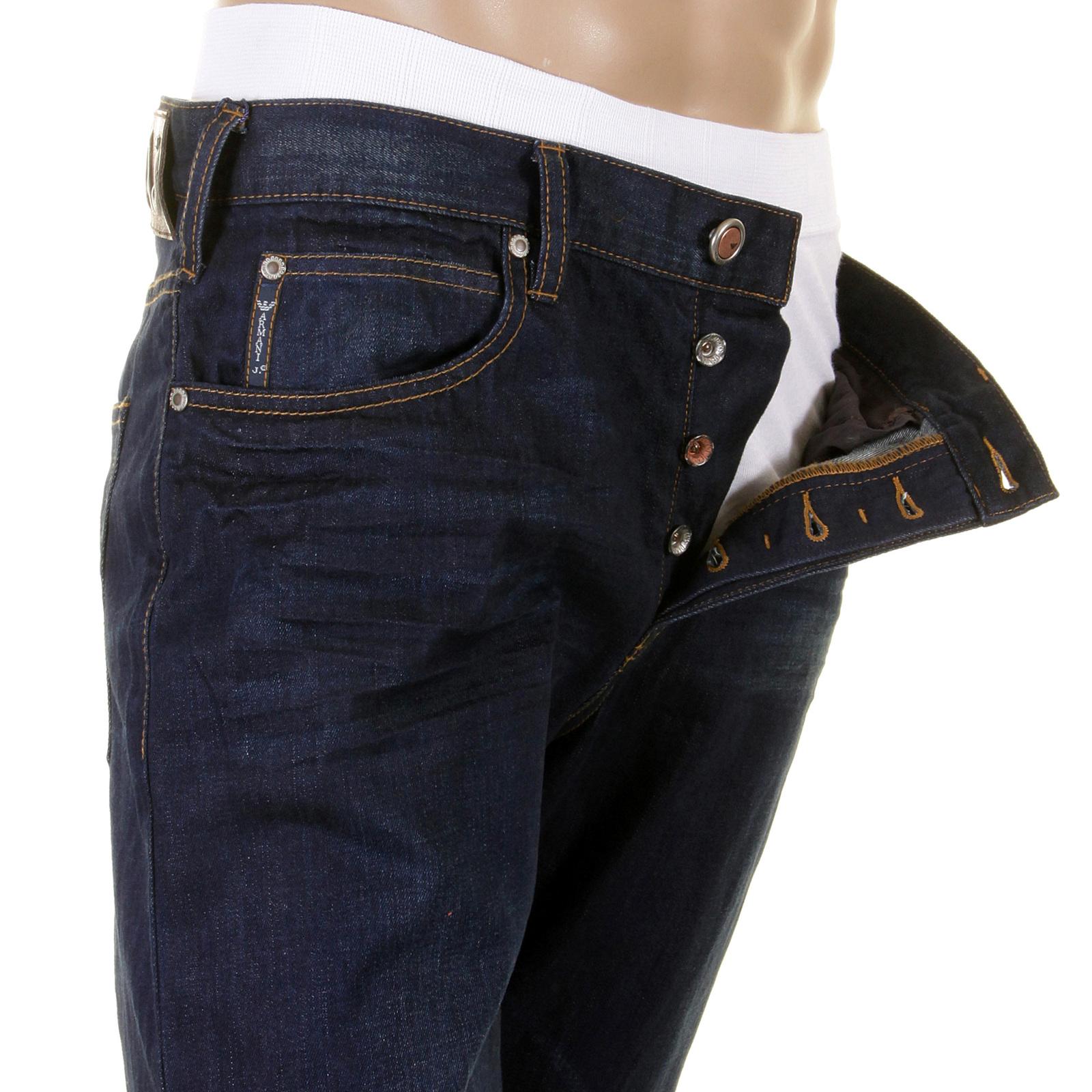 887a7badff66 Armani Jeans J21 regular fit dark indigo denim jean Q6J21 4P AJM2182 ...