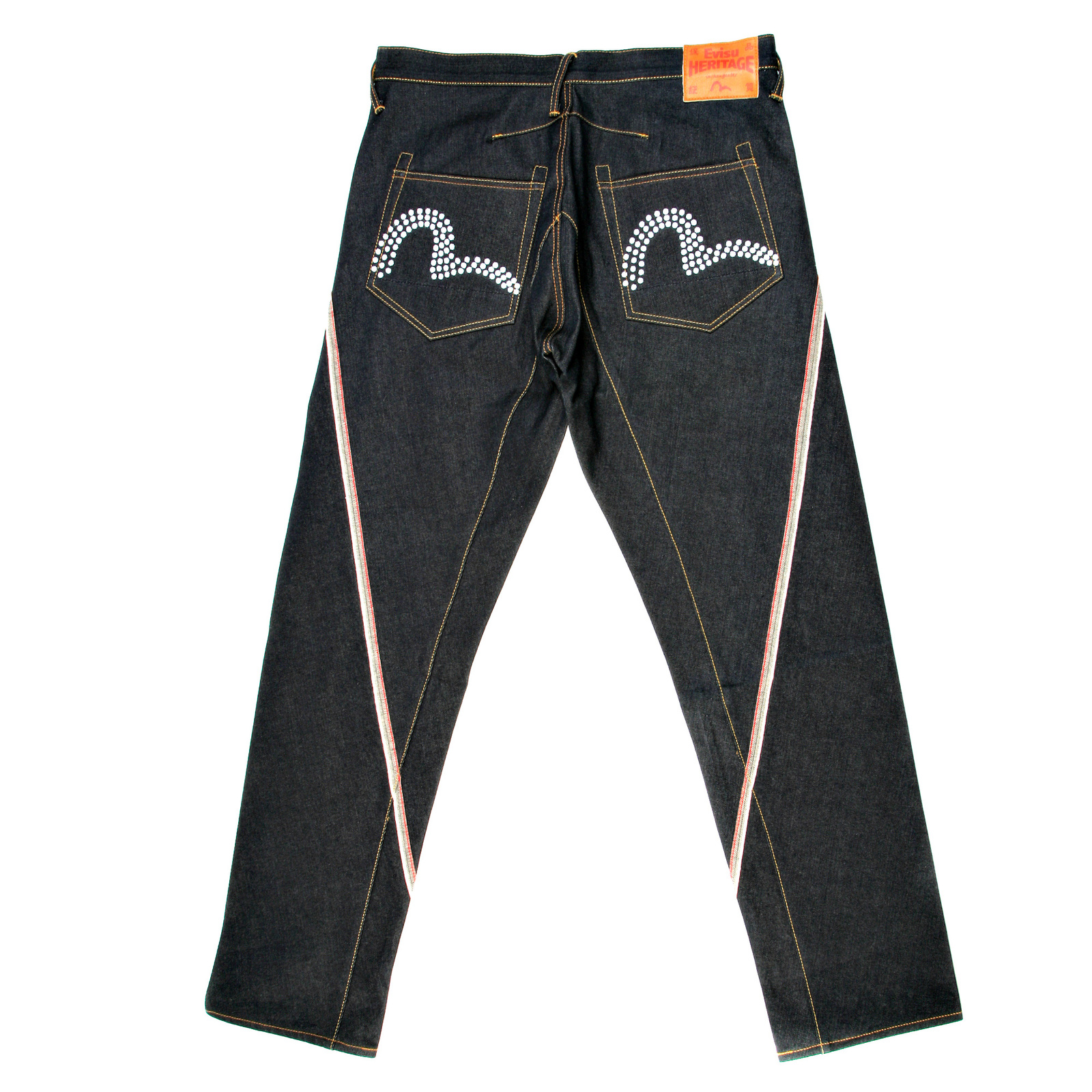 Evisu embroidered pocket jeans togged
