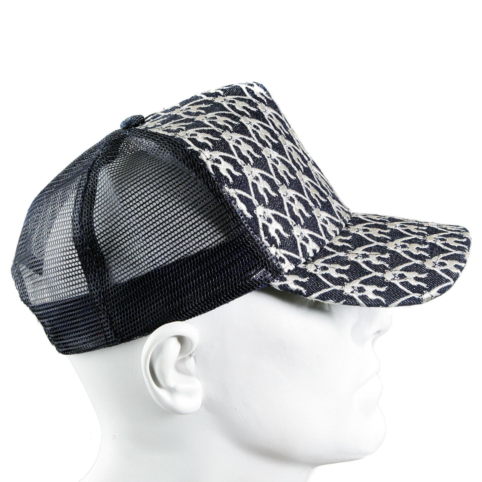 314e045a633 RMC Jeans Mens Black Mesh Silver Logo Embroidered Cap REDM9098