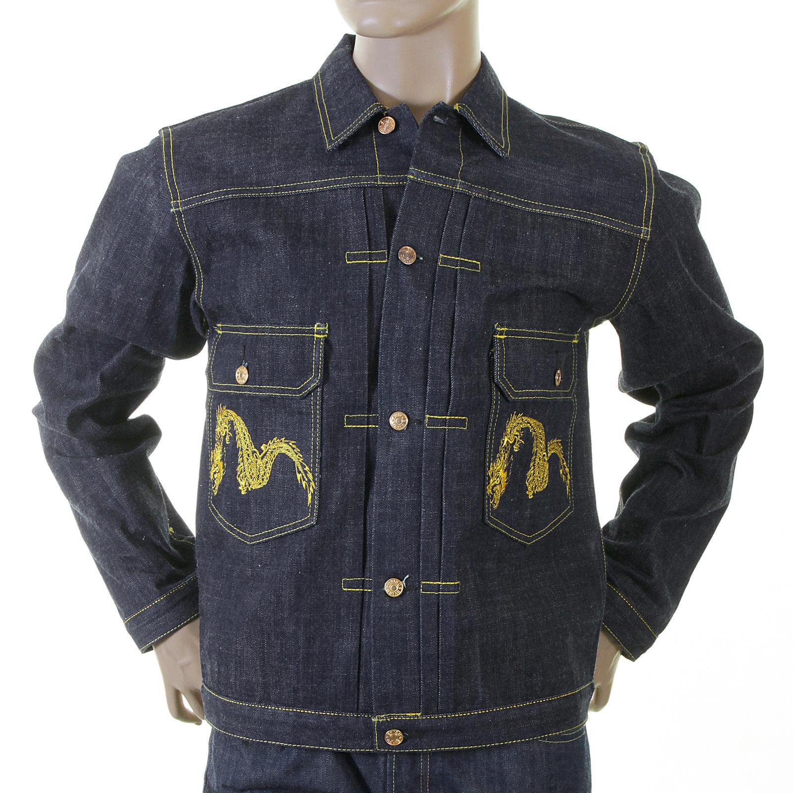 Shop for the Non Wash Mens Indigo Denim Jacket by Evisu