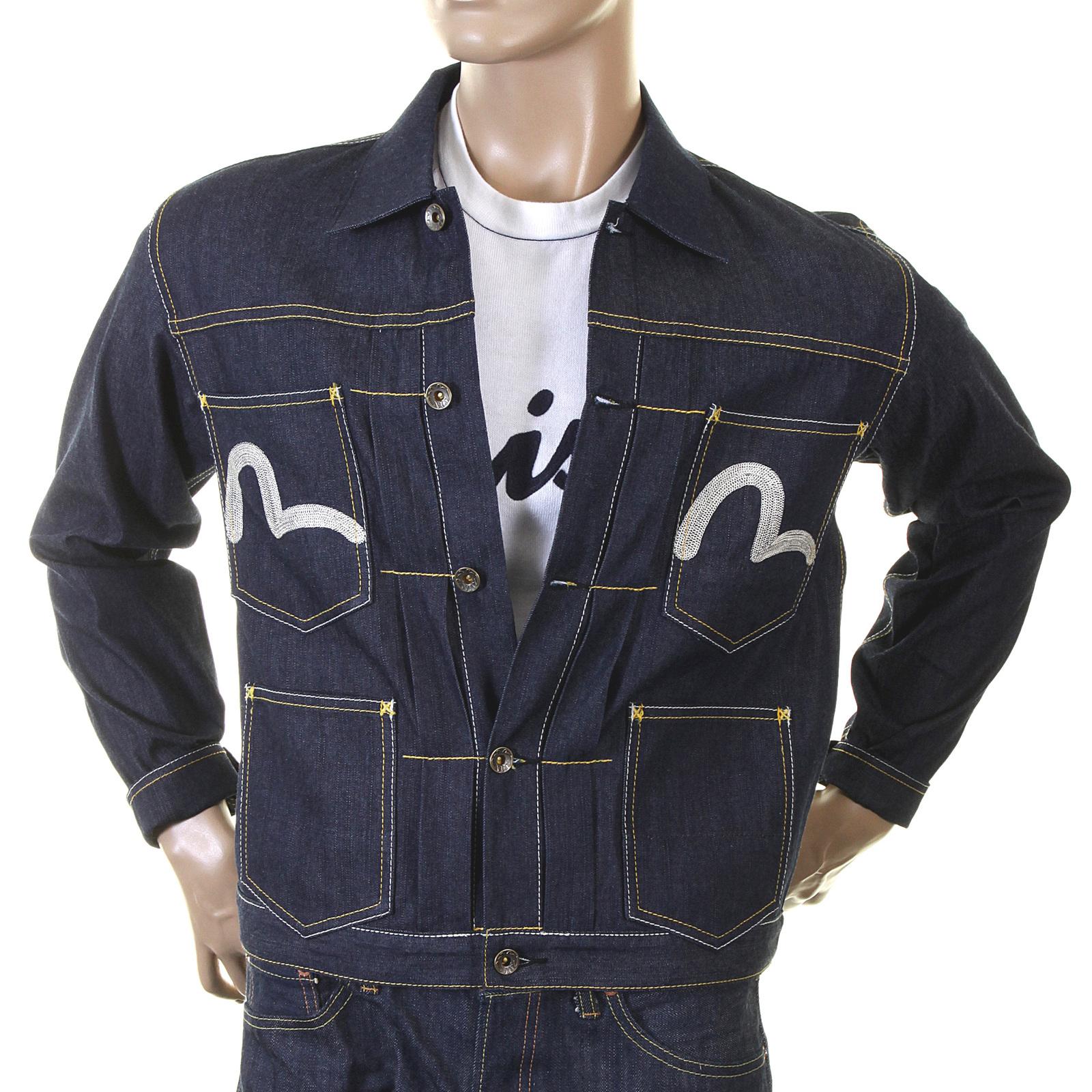 7f2602275d4b Evisu unwashed raw denim early original genuine rare EV3705 D100 five  pocket jacket EVIS4714 at Togged Clothing