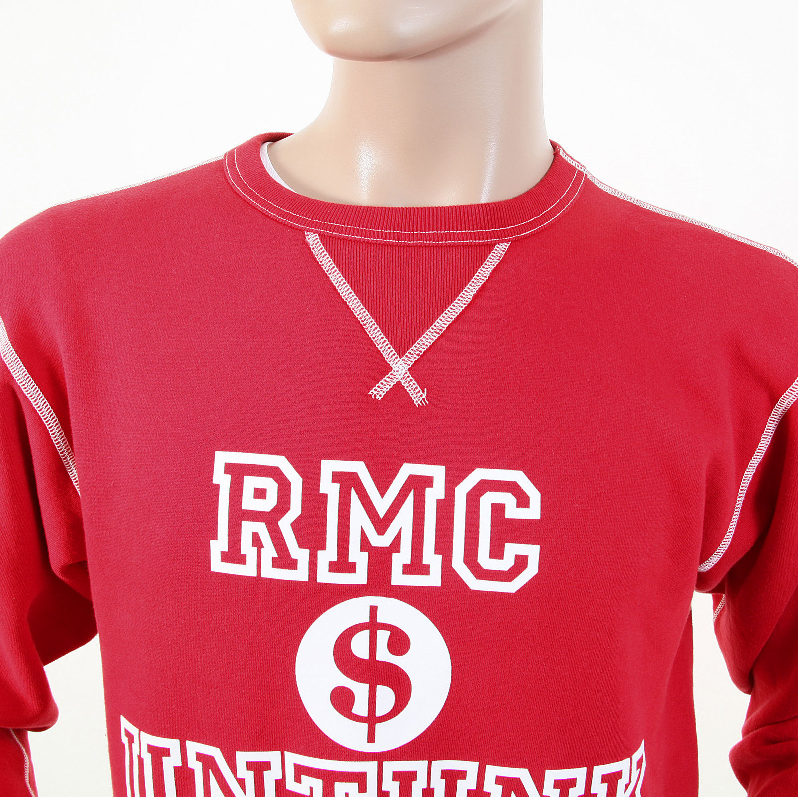 Red Monkey Clothing Washed Red Mens Sweatshirts
