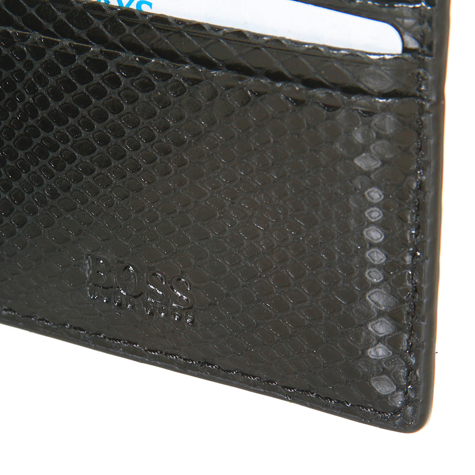 Boss Black Geobix boxed wallet and ID credit card holder gift set ...