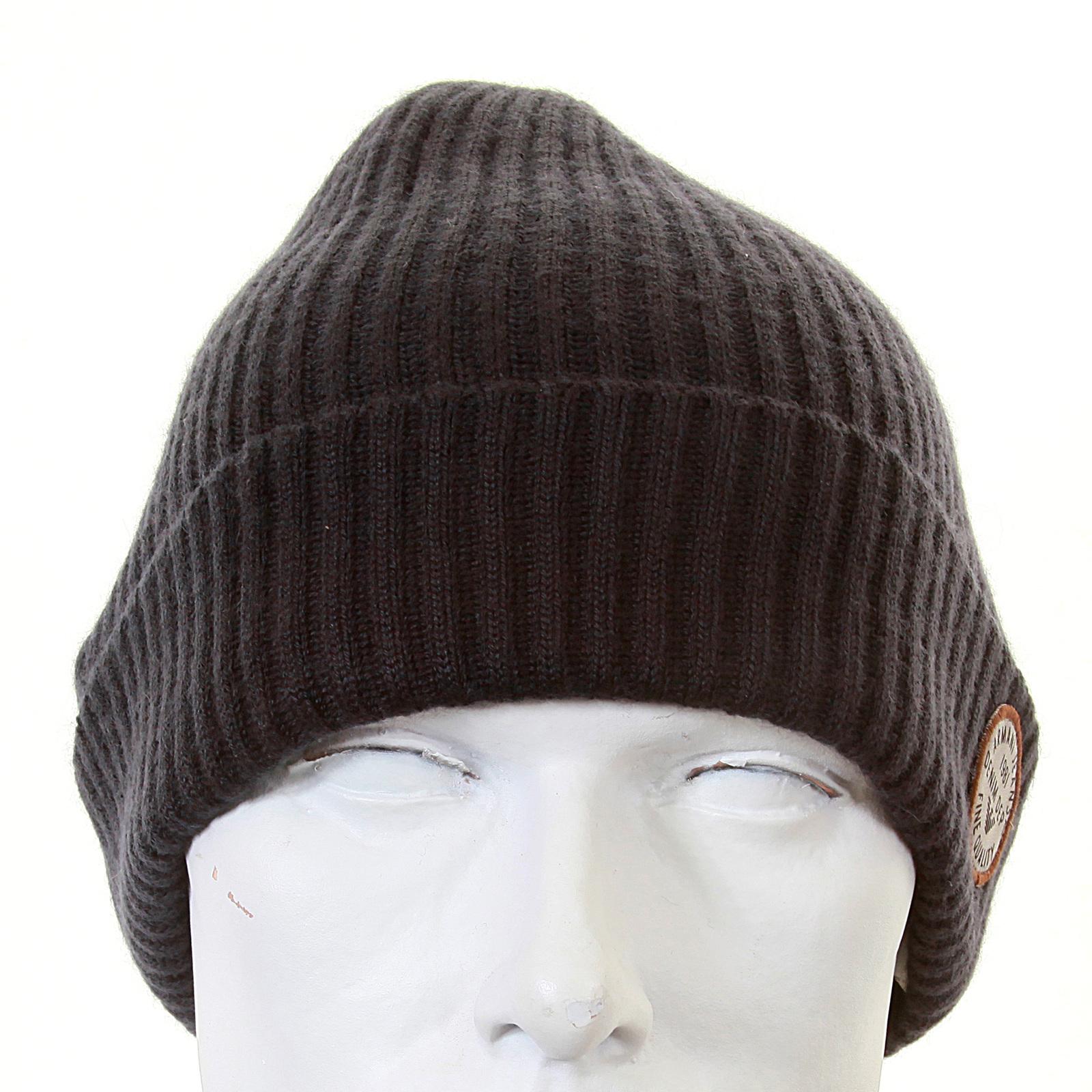 d8456d59058174 Armani Jeans dark grey rib knit beanie hat S6404 P3 AJM1342 at ...