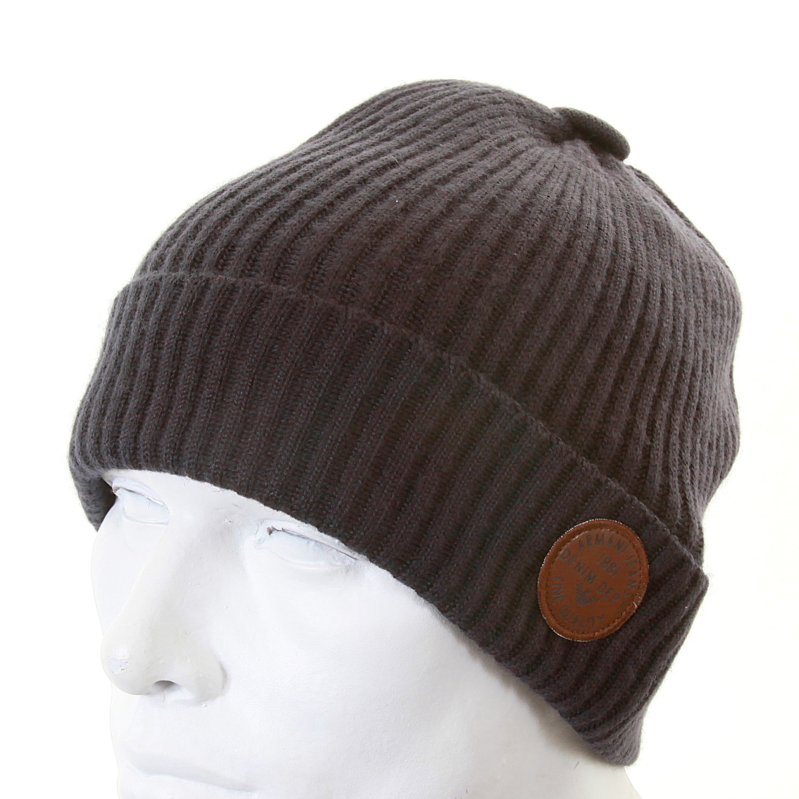 903394ac05e29c Armani Jeans dark grey rib knit beanie hat S6404 P3 AJM1342 at Togged  Clothing