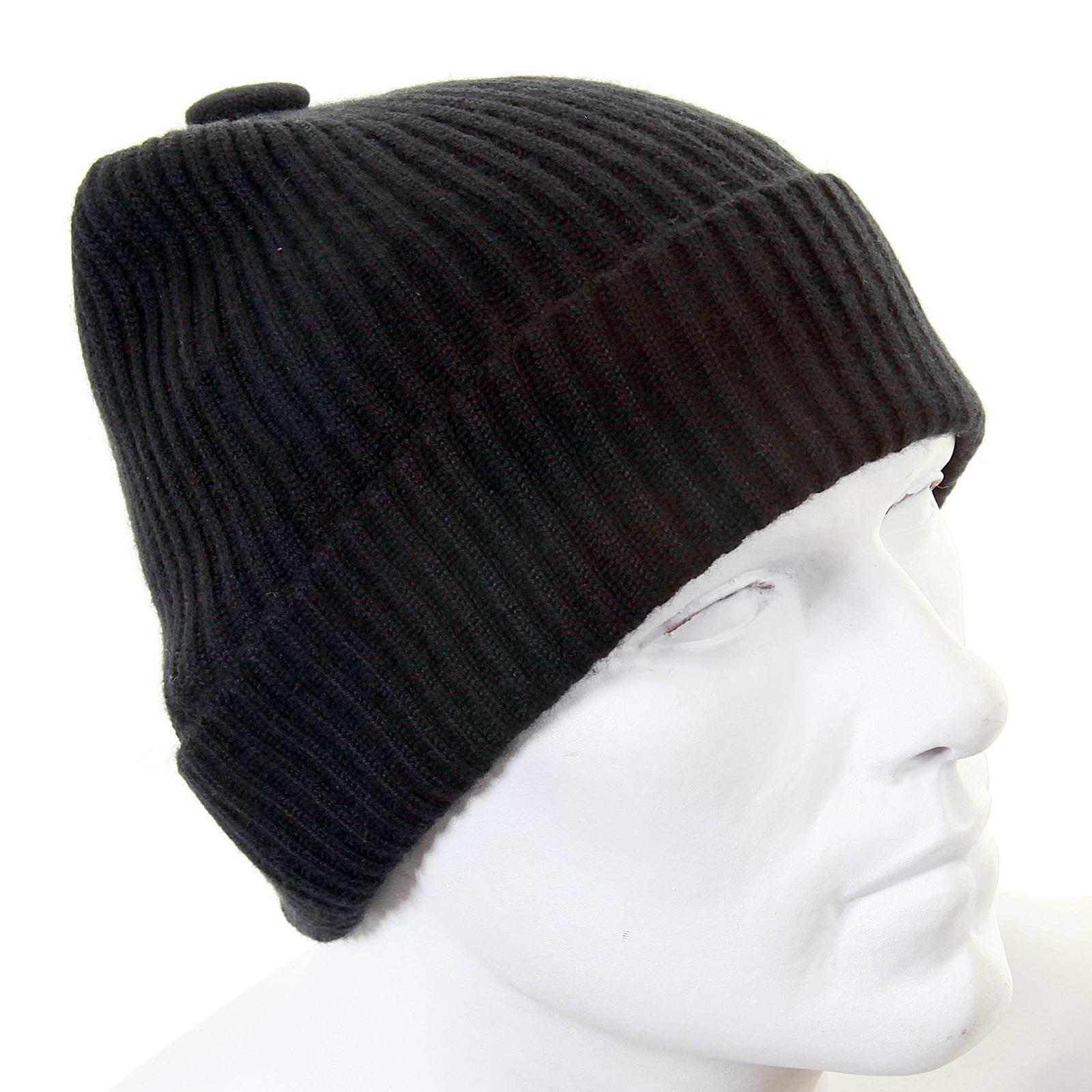 60af6b73747096 Armani Jeans black rib knit beanie hat S6404 P3 AJM1340 at Togged ...