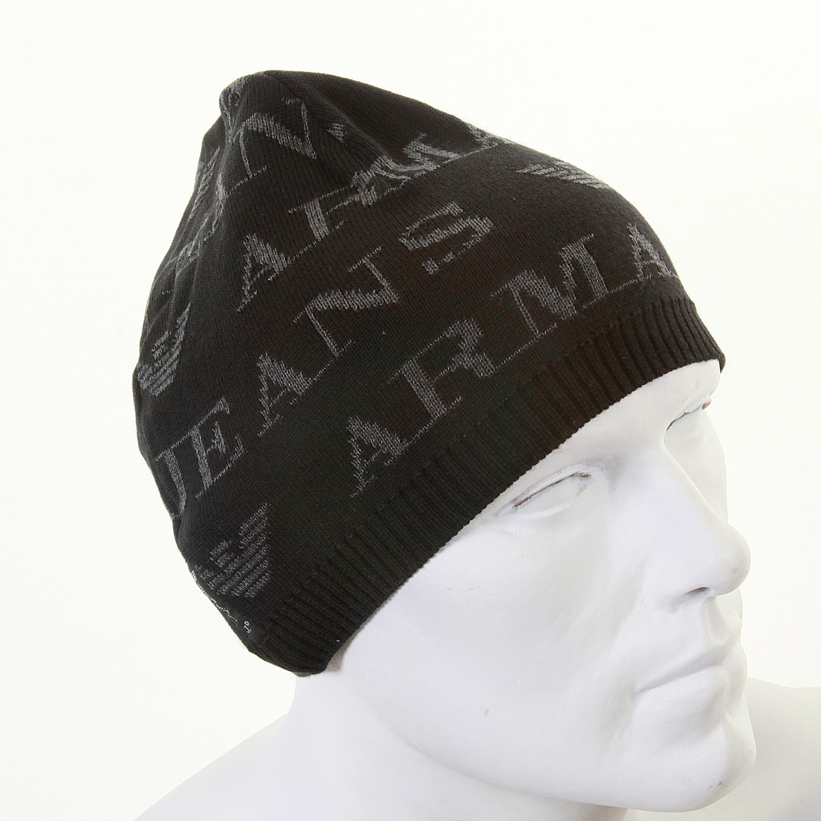 Armani Jeans black monogram knitted skull cap beanie S6417 S1 AJM1339 at  Togged Clothing 03eb81e6c3d