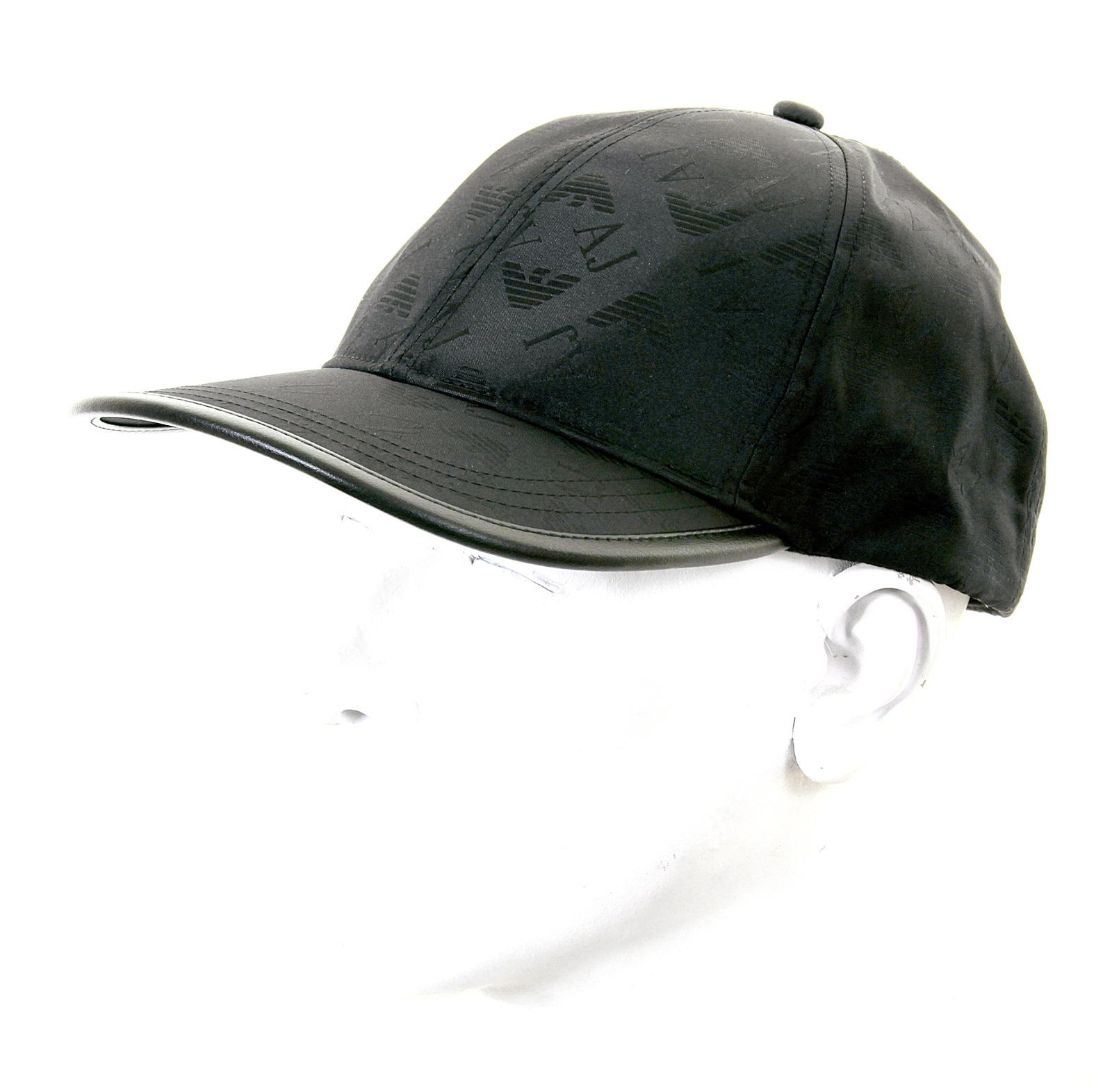 Armani Jeans black monogram baseball cap 06482 YS AJM1204 at Togged Clothing b3fa1ce99699