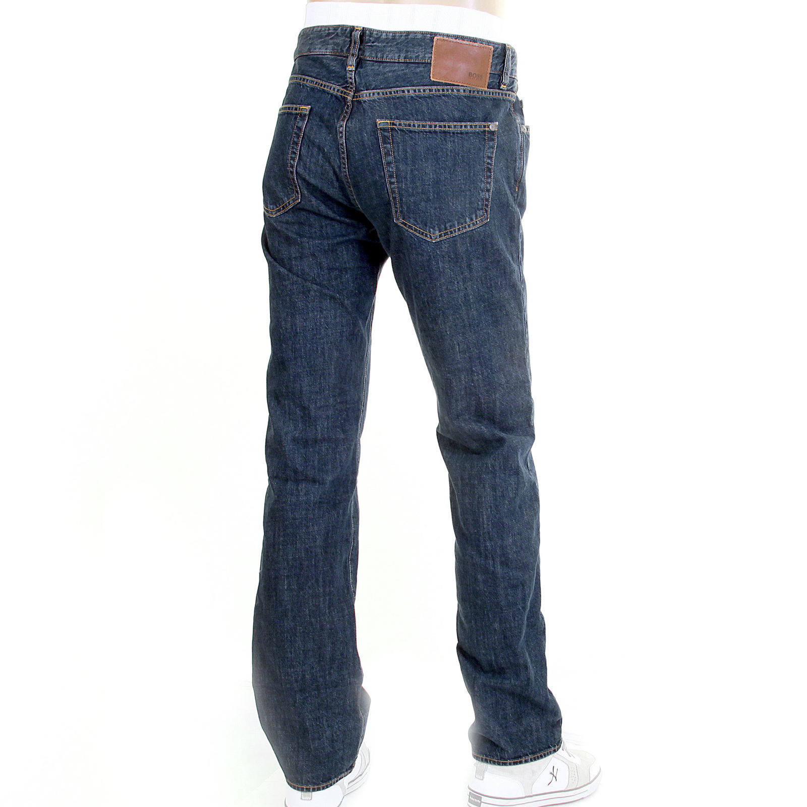big sale stable quality exquisite style Boss Black jeans Kansas 50211387 classic dark wash Hugo Boss denim jean  BOSS0737