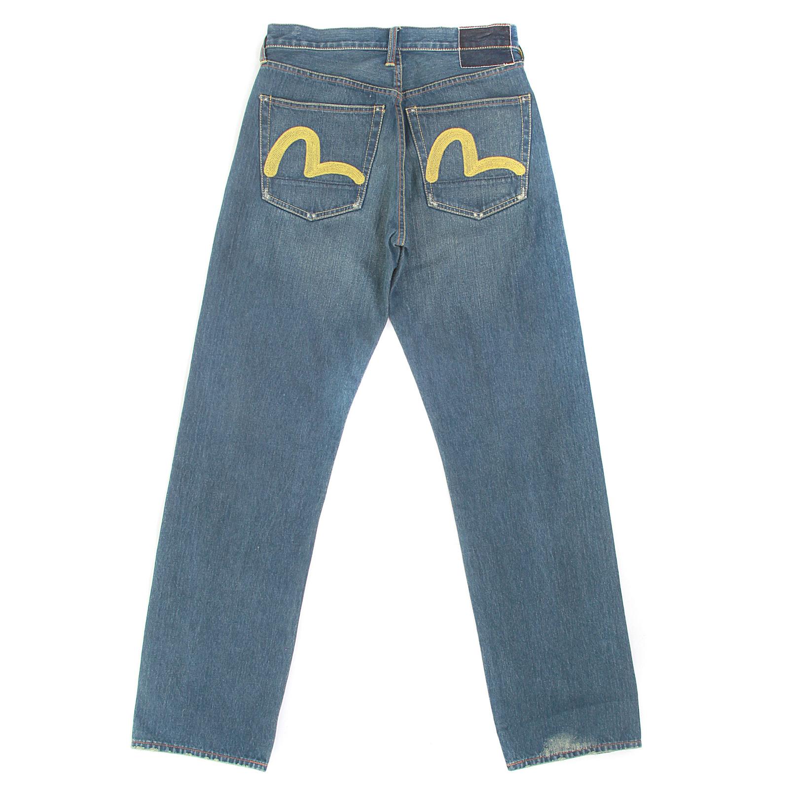 668ebac3dbcc Stonewashed Mens Selvedge Denim Jeans by Evisu Clothing