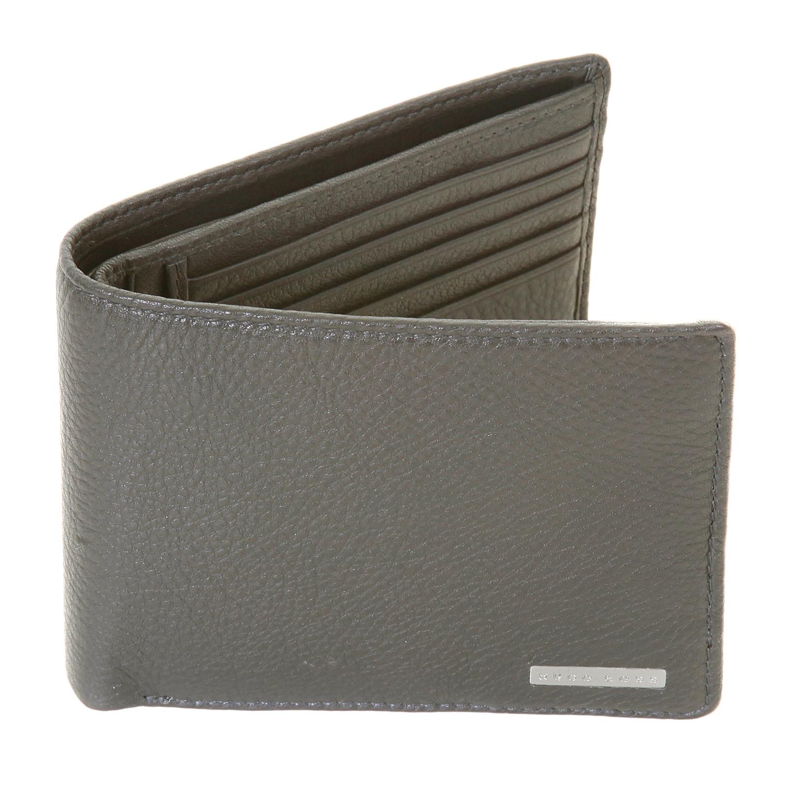 5bf403e4cfca1 Hugo Boss Black label mens Bengi 50205407 boxed grey leather wallet  BOSS0974 at Togged Clothing