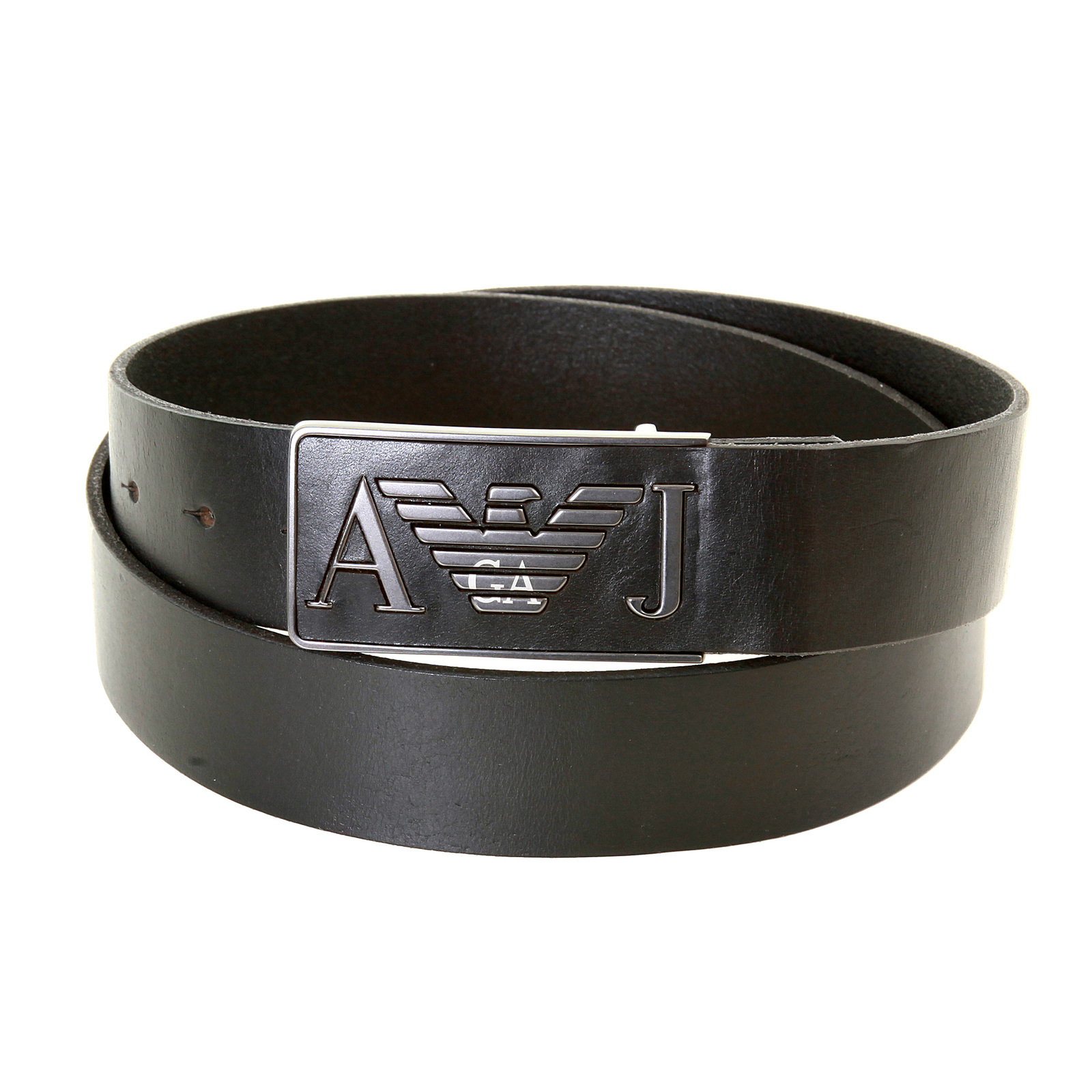 Armani Jeans mens black leather casual belt T6115 D6 AJM0477 at Togged Clothing