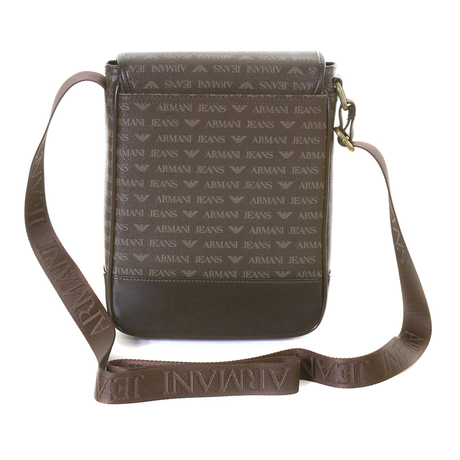 ab041dae9a2a Armani Jeans mens brown 06293 J4 logo messenger bag AJM2474 at ...