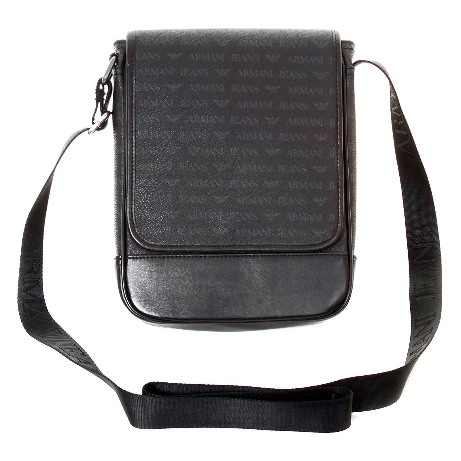 Armani Jeans mens black 06293 J4 logo messenger bag AJM2475 at Togged  Clothing 2b36fda865267
