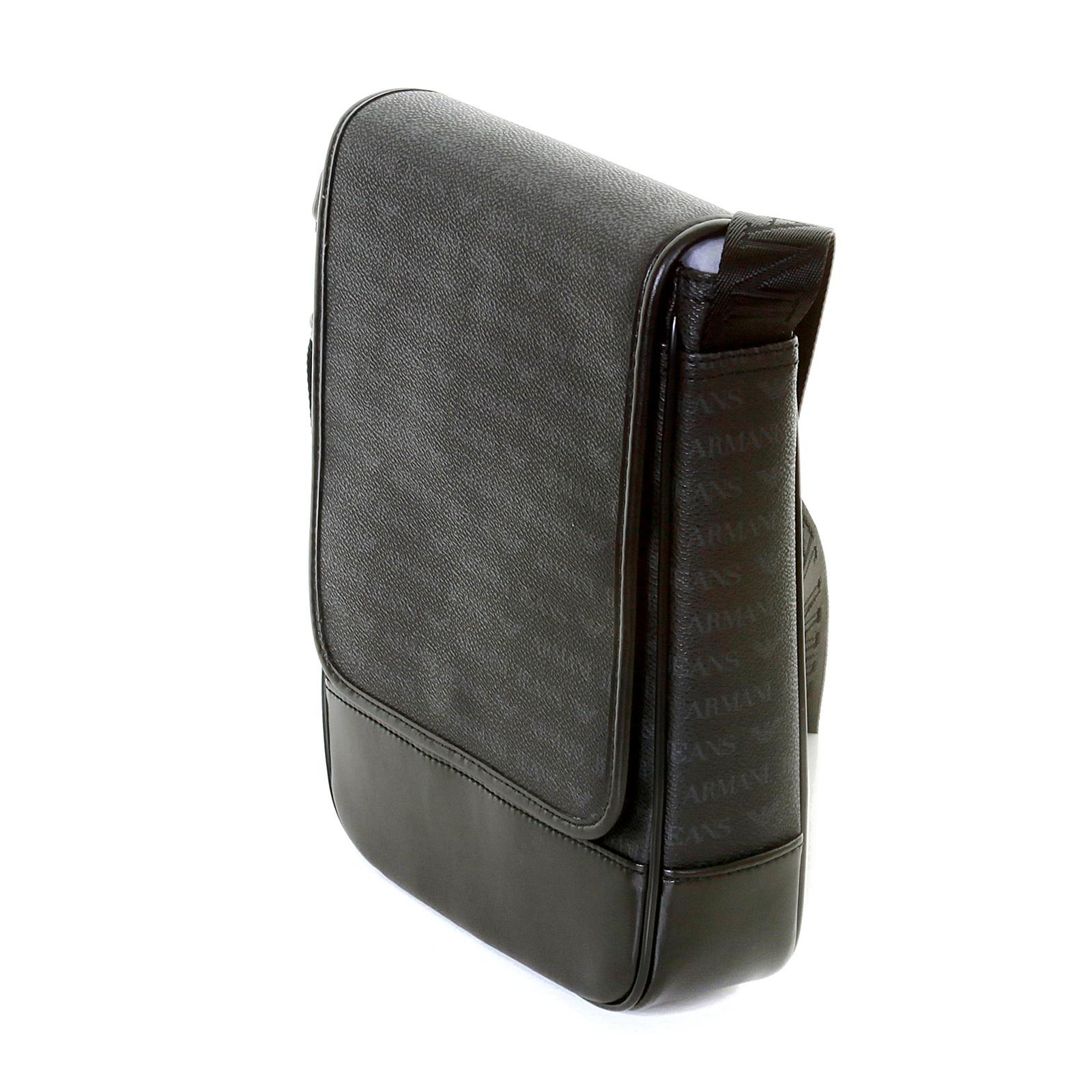 ddafde0ef07e Armani Jeans mens black 06293 J4 logo messenger bag AJM2475 at ...