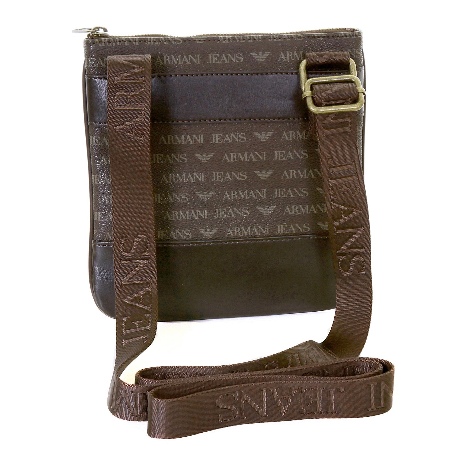 8327f06a1dec Armani Jeans mens brown logo small messenger bag AJM2472 at Togged Clothing