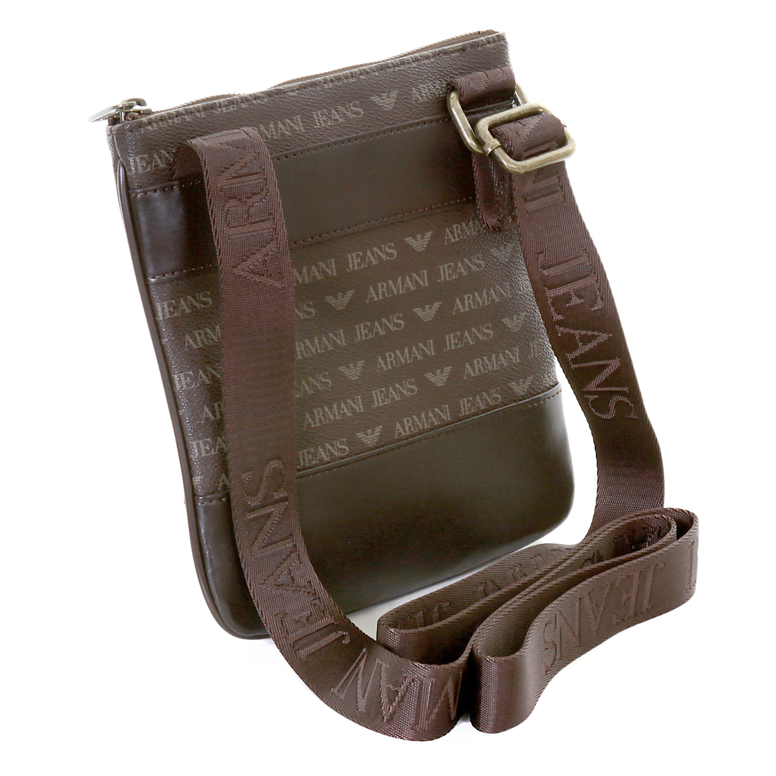 Armani Jeans mens brown logo small messenger bag AJM2472 at Togged ... de49d126283b9