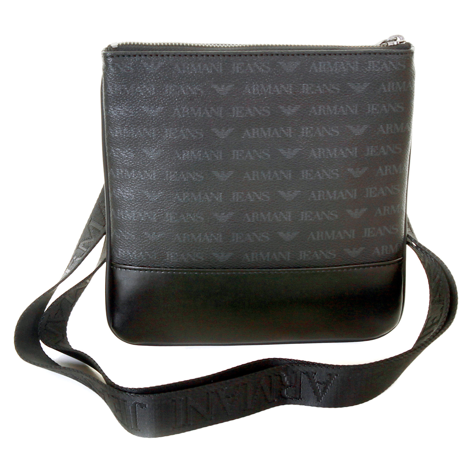 c34a1353e5 Armani Jeans mens black logo small messenger bag AJM2473