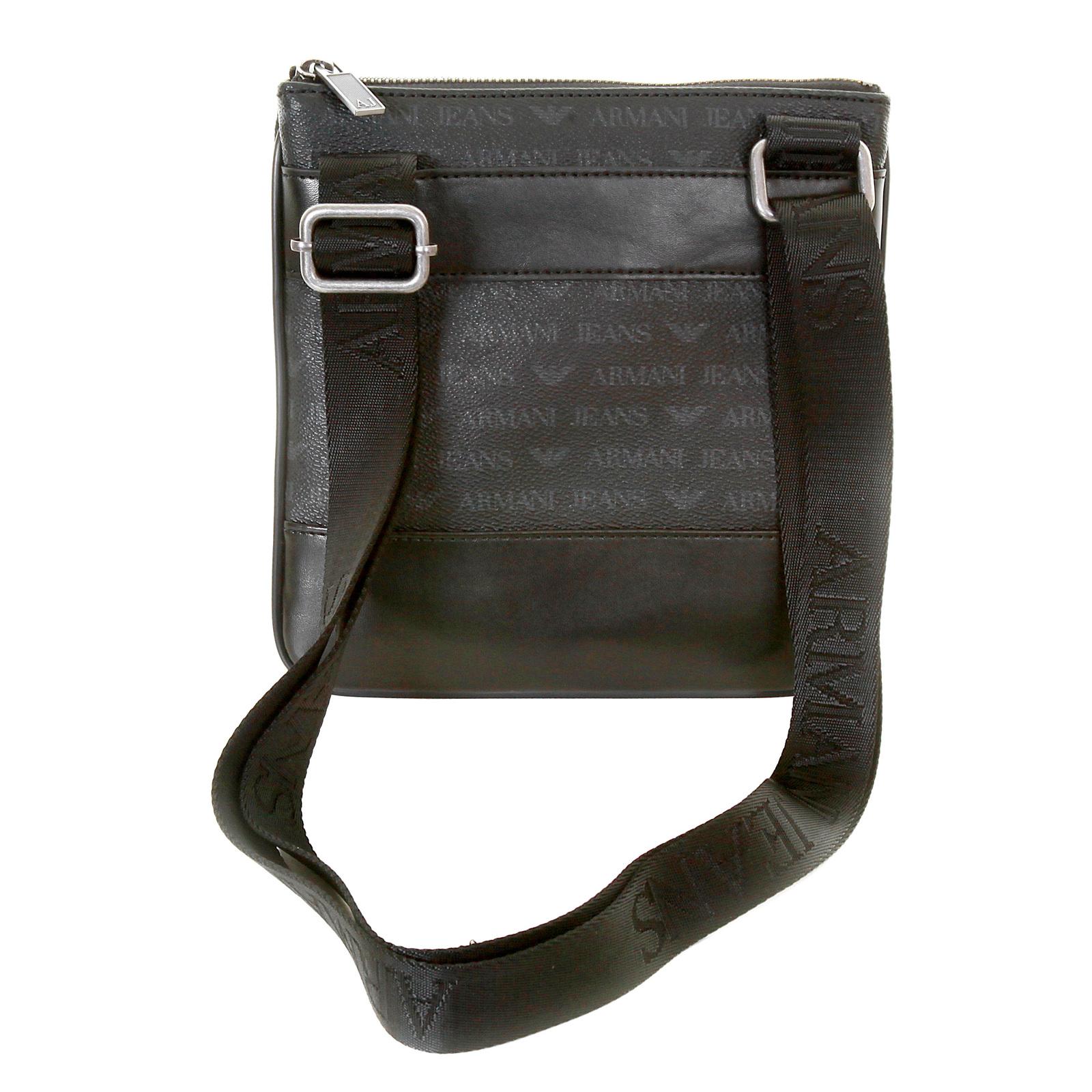 dead3f475deb Armani Jeans mens black logo small messenger bag AJM2473 at Togged ...