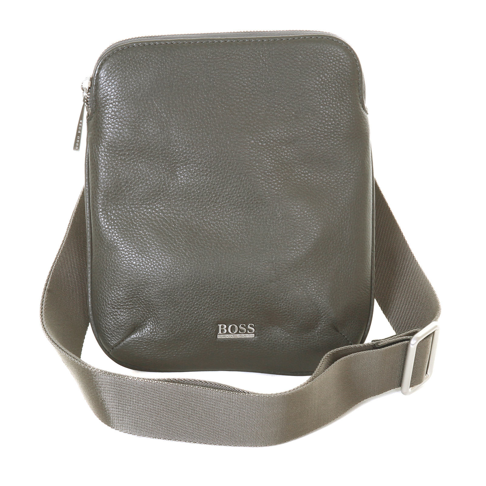 Hugo Boss Black label mens grey leather 50205406 Bussolo reporter bag  BOSS0969 at Togged Clothing 72180a1af7d40