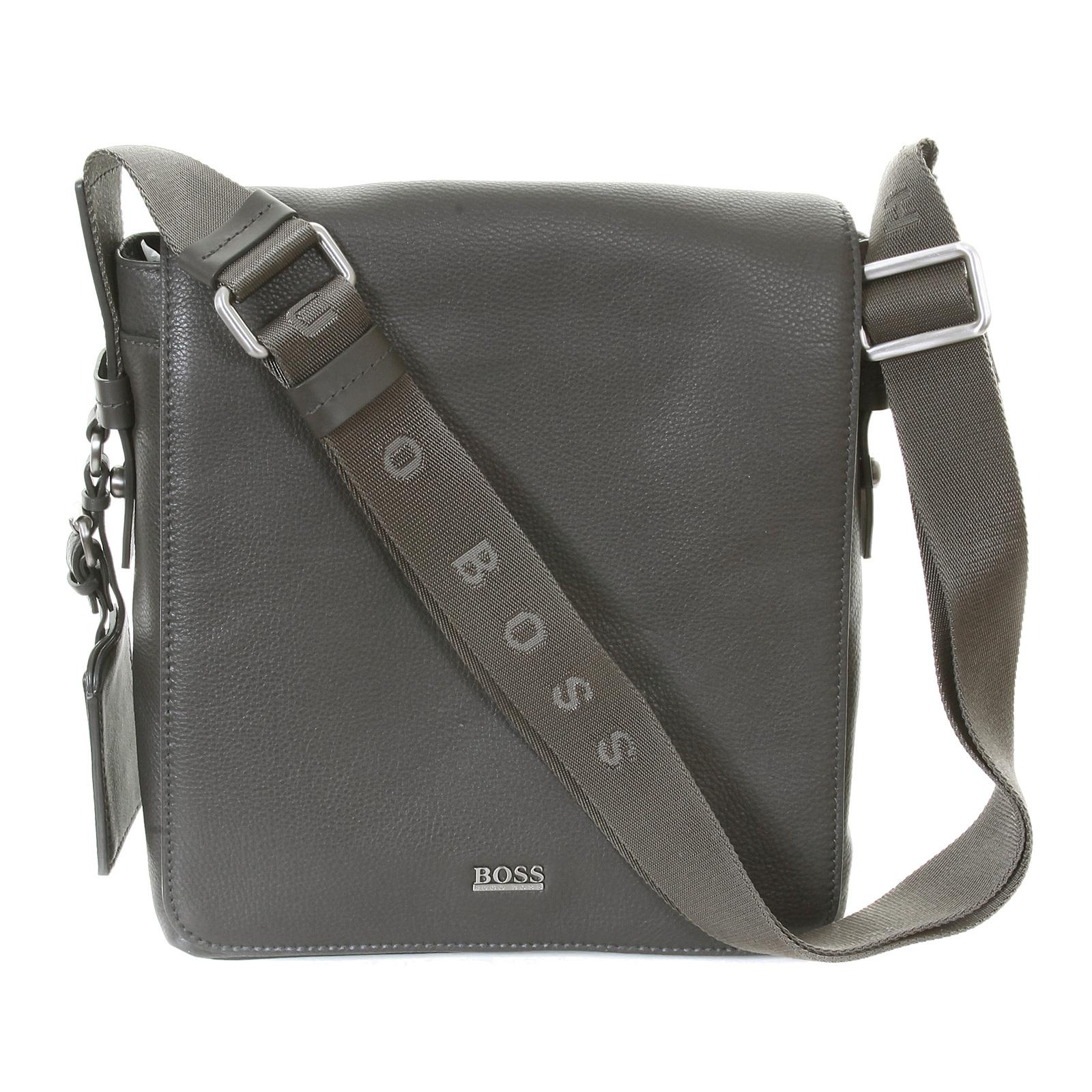Hugo Boss Black label mens grey leather 50205405 Bekon reporter ...