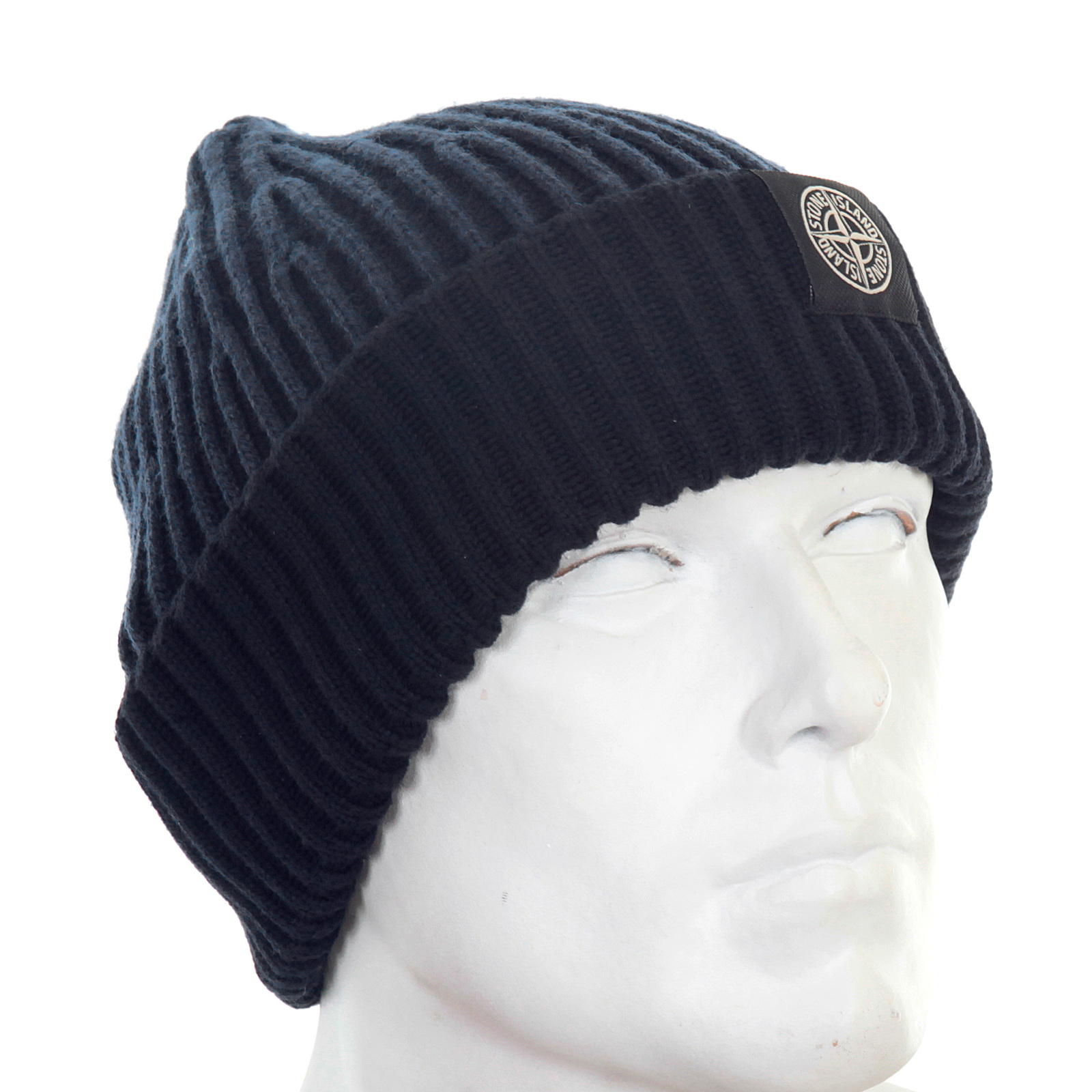 ca85a1fc95c where can i buy stone island mens navy rib knit 6115n09c6 beanie hat si3016  3b379 eef72