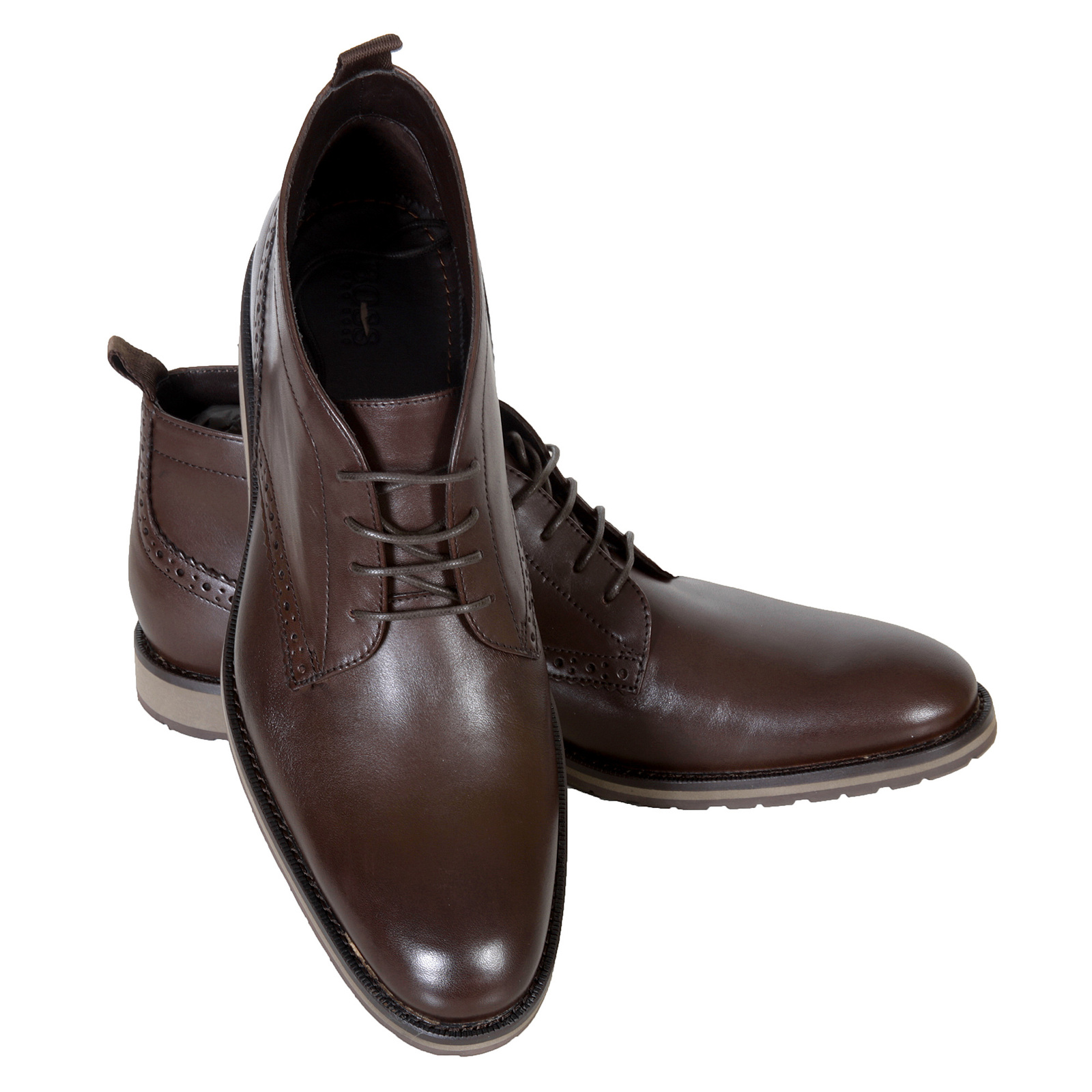 18b5a739fd0 Hugo Boss Black Label mens Nevisio 50247369 brown leather ankle boots  BOSS2764 at Togged Clothing