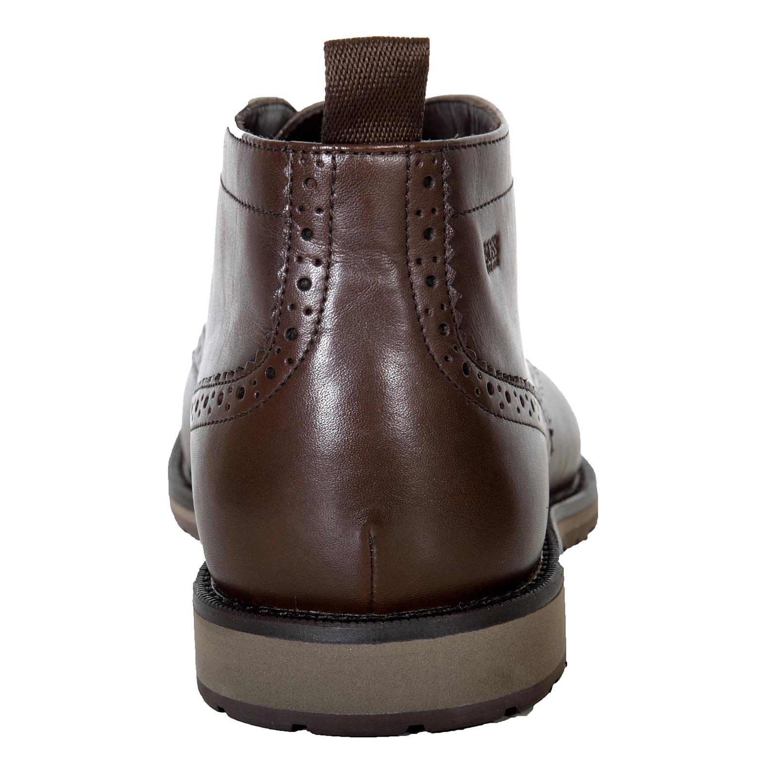 Hugo Boss Black Label Mens Nevisio 50247369 Brown Leather