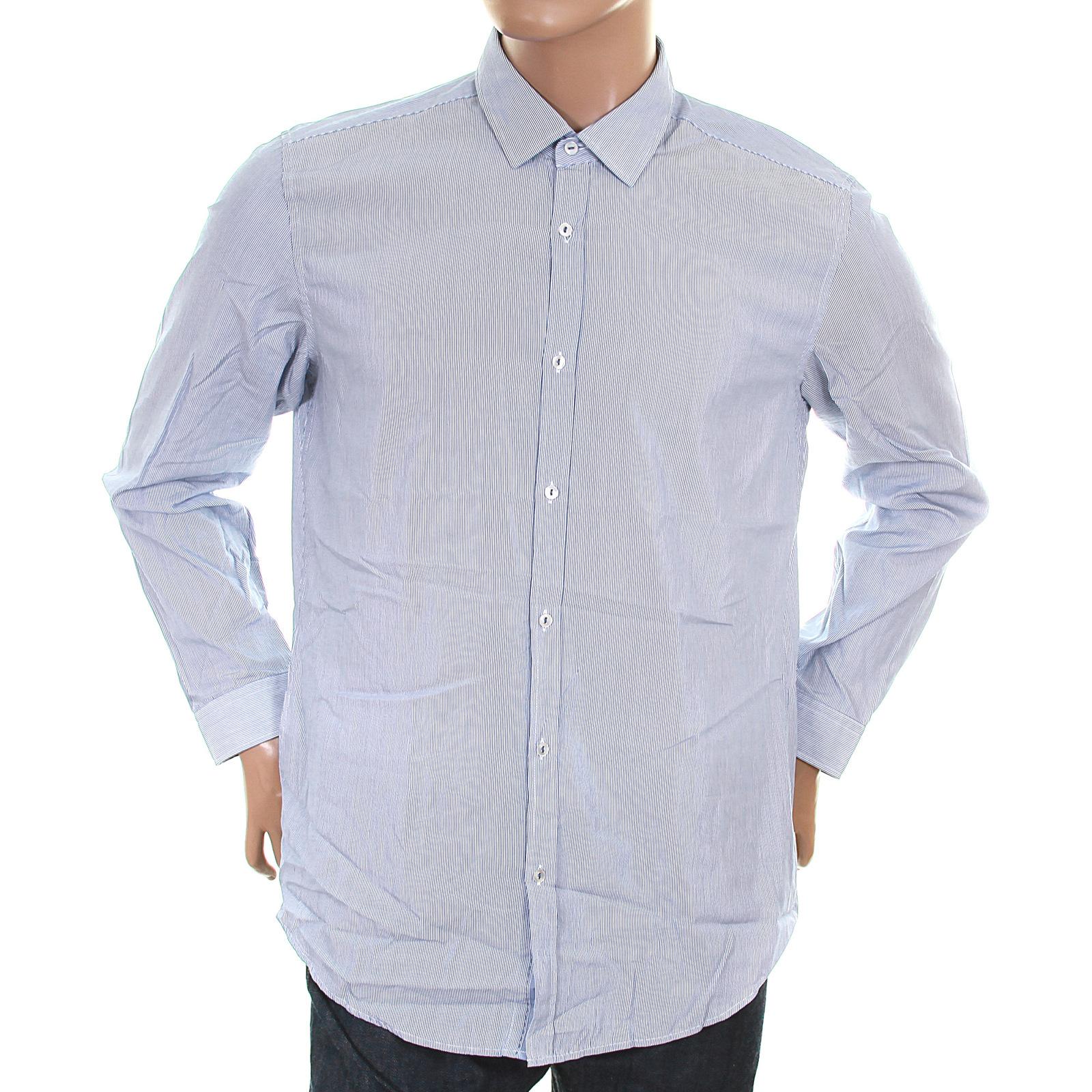 bcf574f6f Hugo Boss Black Label mens blue Lorenzo 50226367 striped shirt BOSS1472 at  Togged Clothing