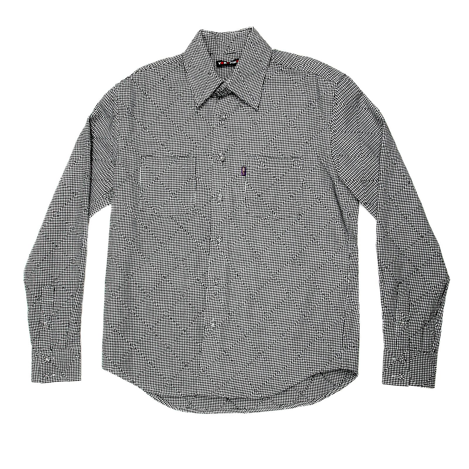 Feel at ease with mens casual shirt with black check for Black and white check mens shirt