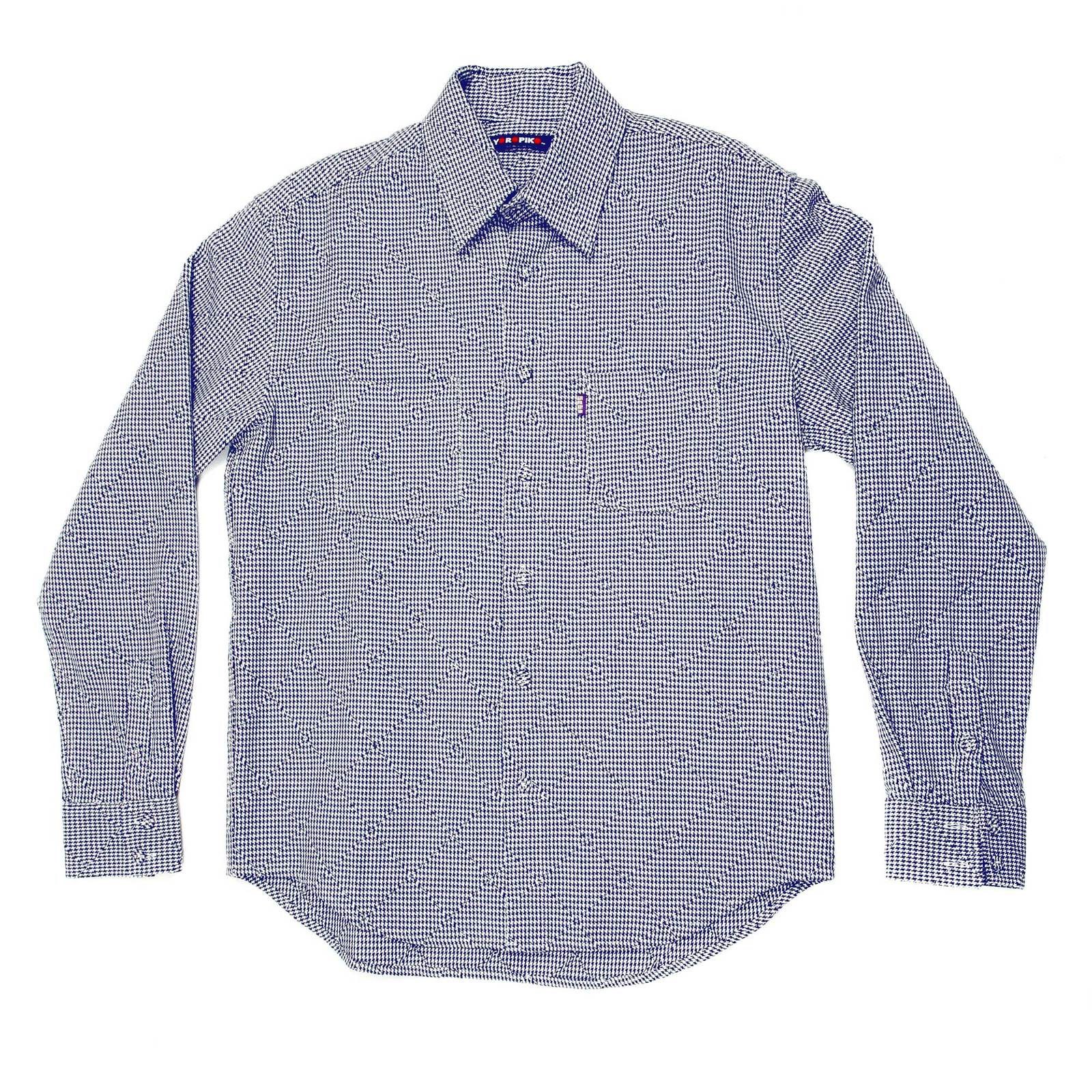 Shop For Yoropiko Long Sleeve Shirt In Navy And White
