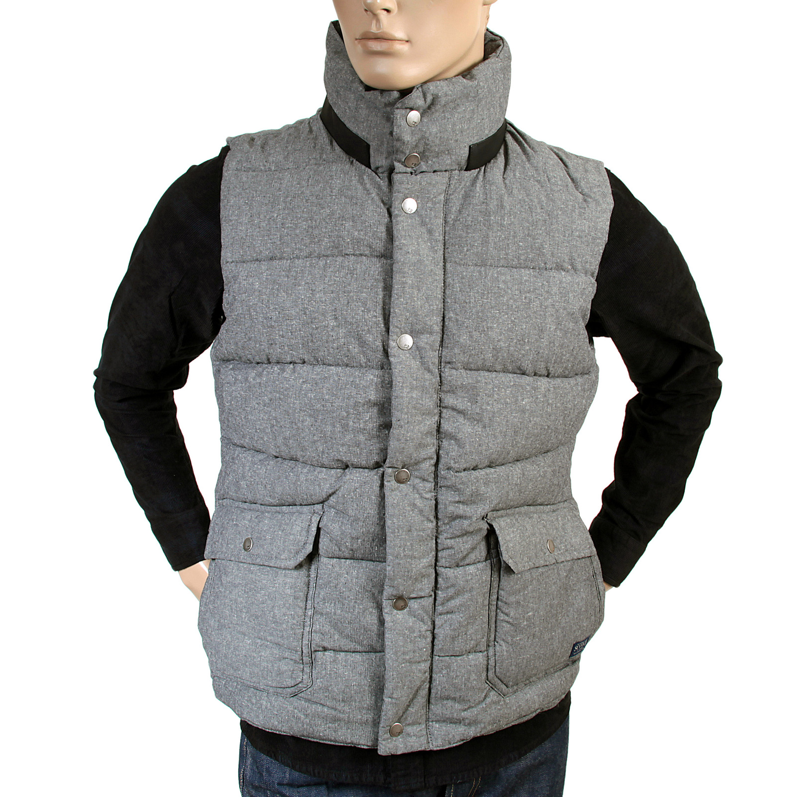 scotch soda mens grey marl 1306 06 30312 padded gillet scot2163 at togged clothing. Black Bedroom Furniture Sets. Home Design Ideas