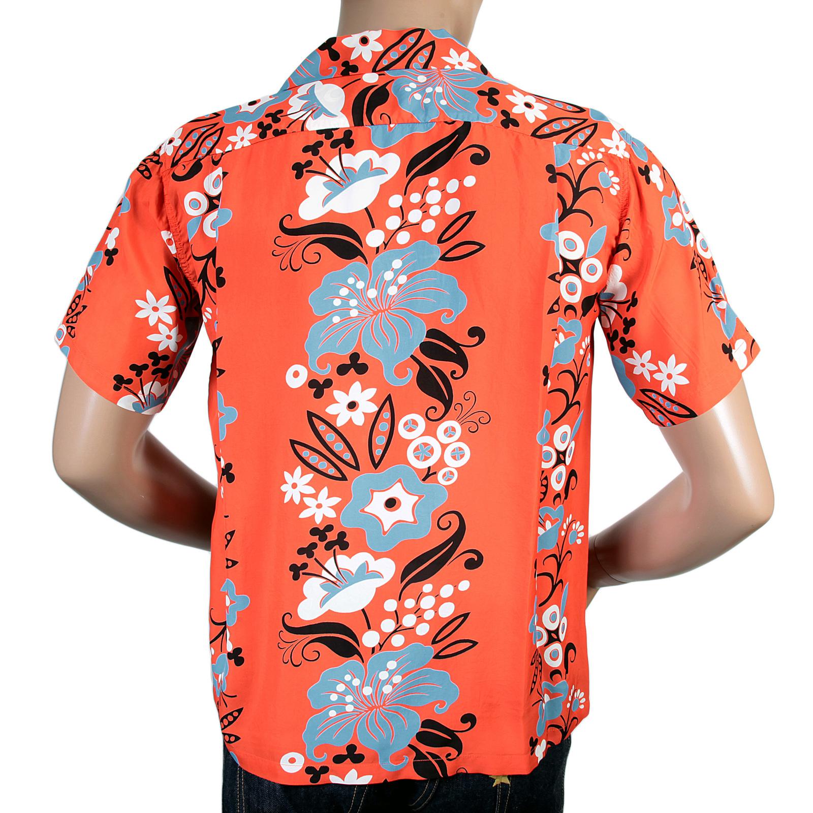 Sunsurf hawaiian floral print shirt with cuban collar for Mens rayon dress shirts