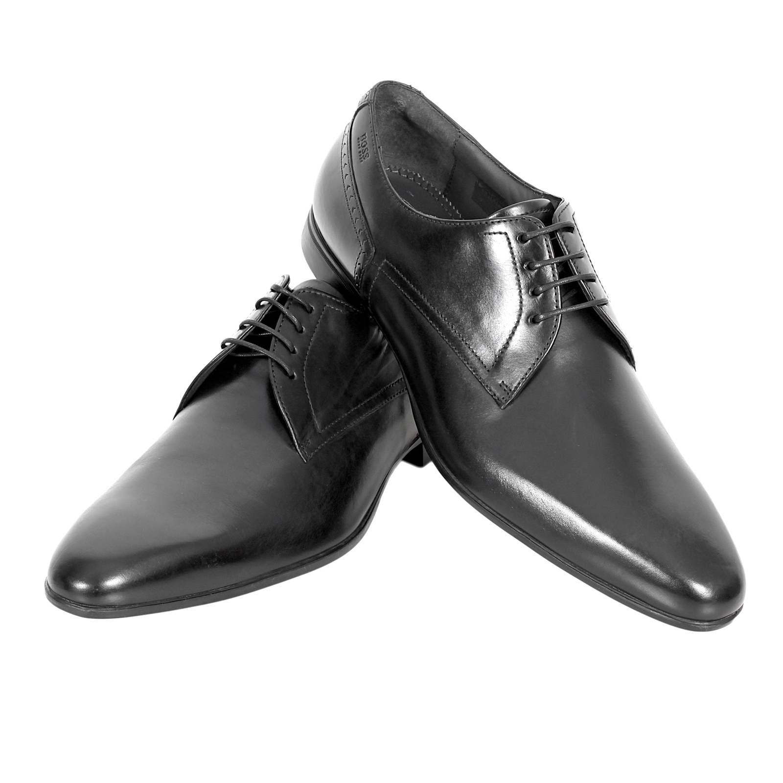 Hugo Boss shoes black leather dress shoes Neviol 50271593 ...
