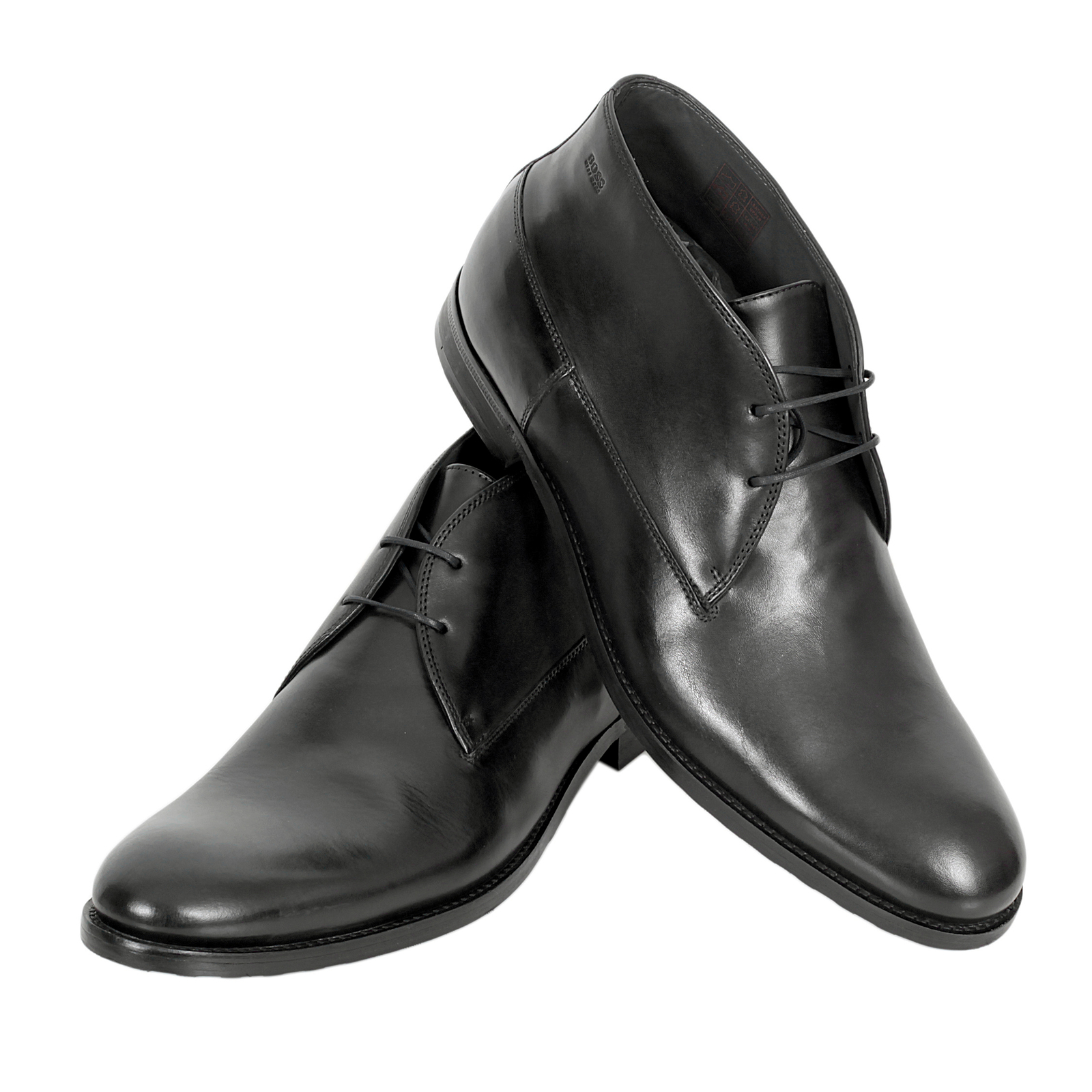hugo boss shoes dresert black leather ankle boots 50271584