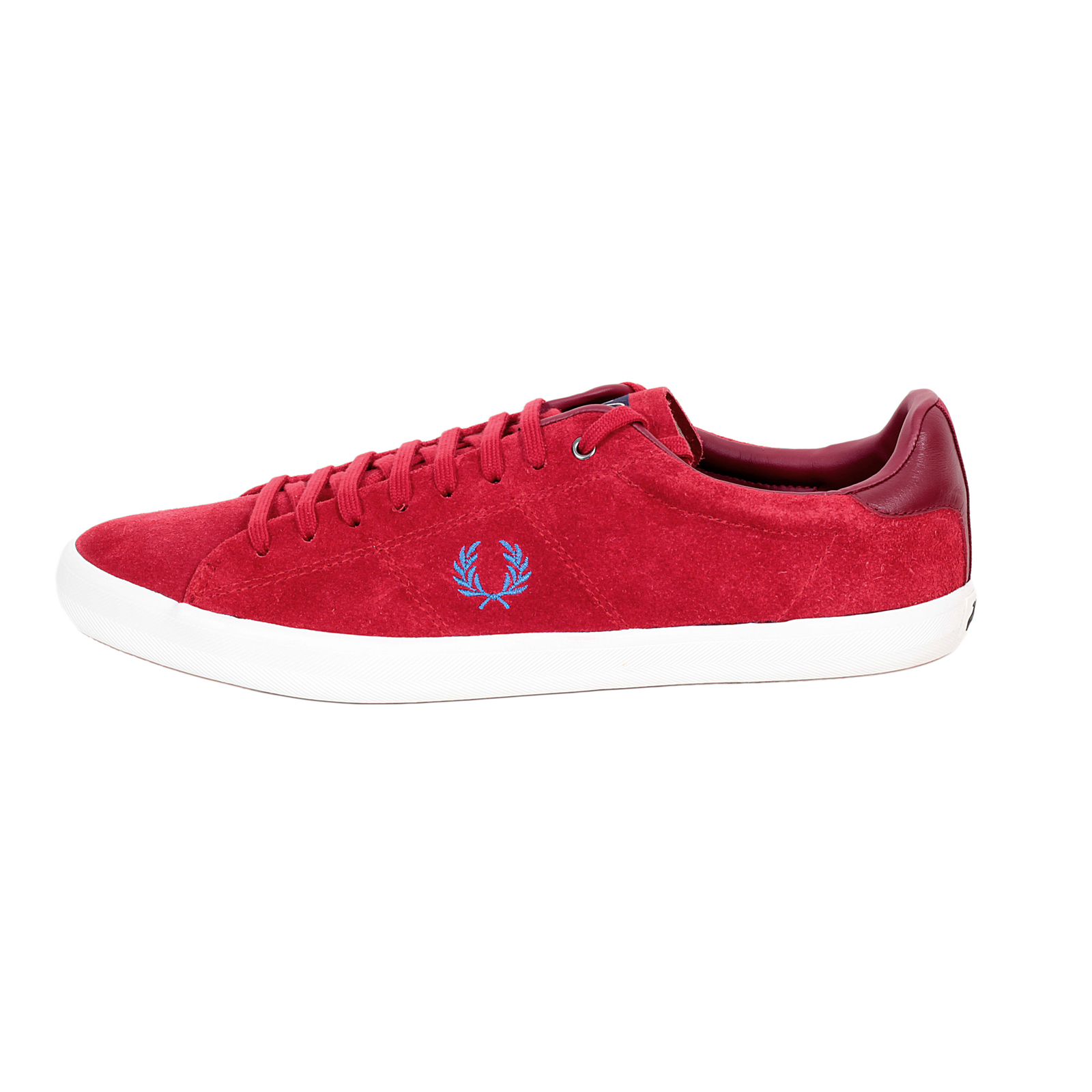 Fred Perry shoes red Howells unlined trainers B4211 FPRY3597 at Togged Clothing