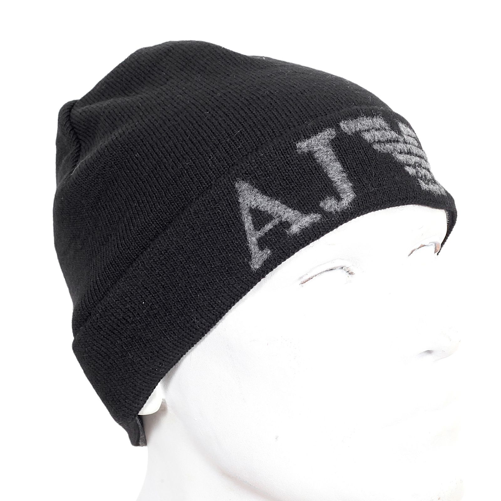 Armani mens black fine rib knit Z6401 M2 beanie hat AJM4045 at Togged  Clothing 5524a0c2c87