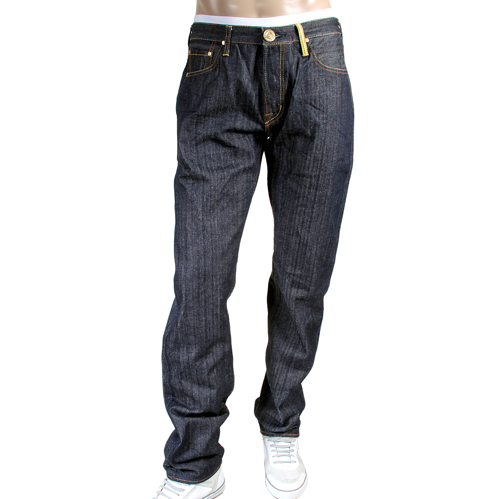 RMC Monster Rider Embroidered Raw Selvedge Denim Jeans