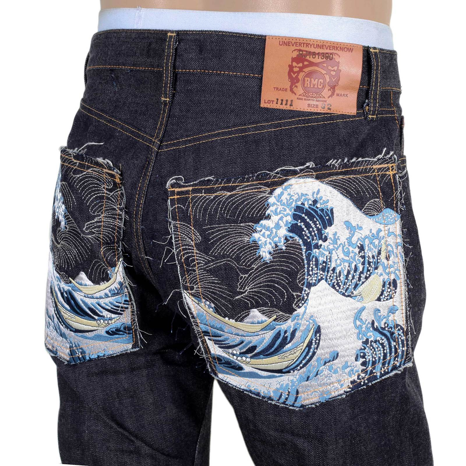 Buy Red Monkey Embroidered Japanese Raw Selvedge Denims