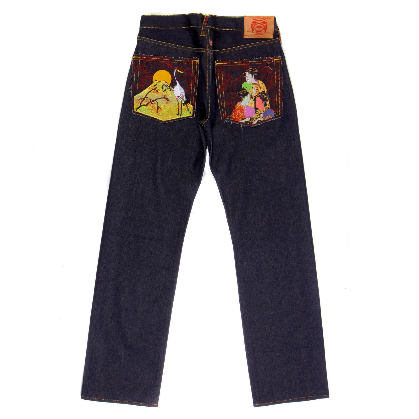 Red Monkey Japanese Selvedge Denim Embroidered Jeans