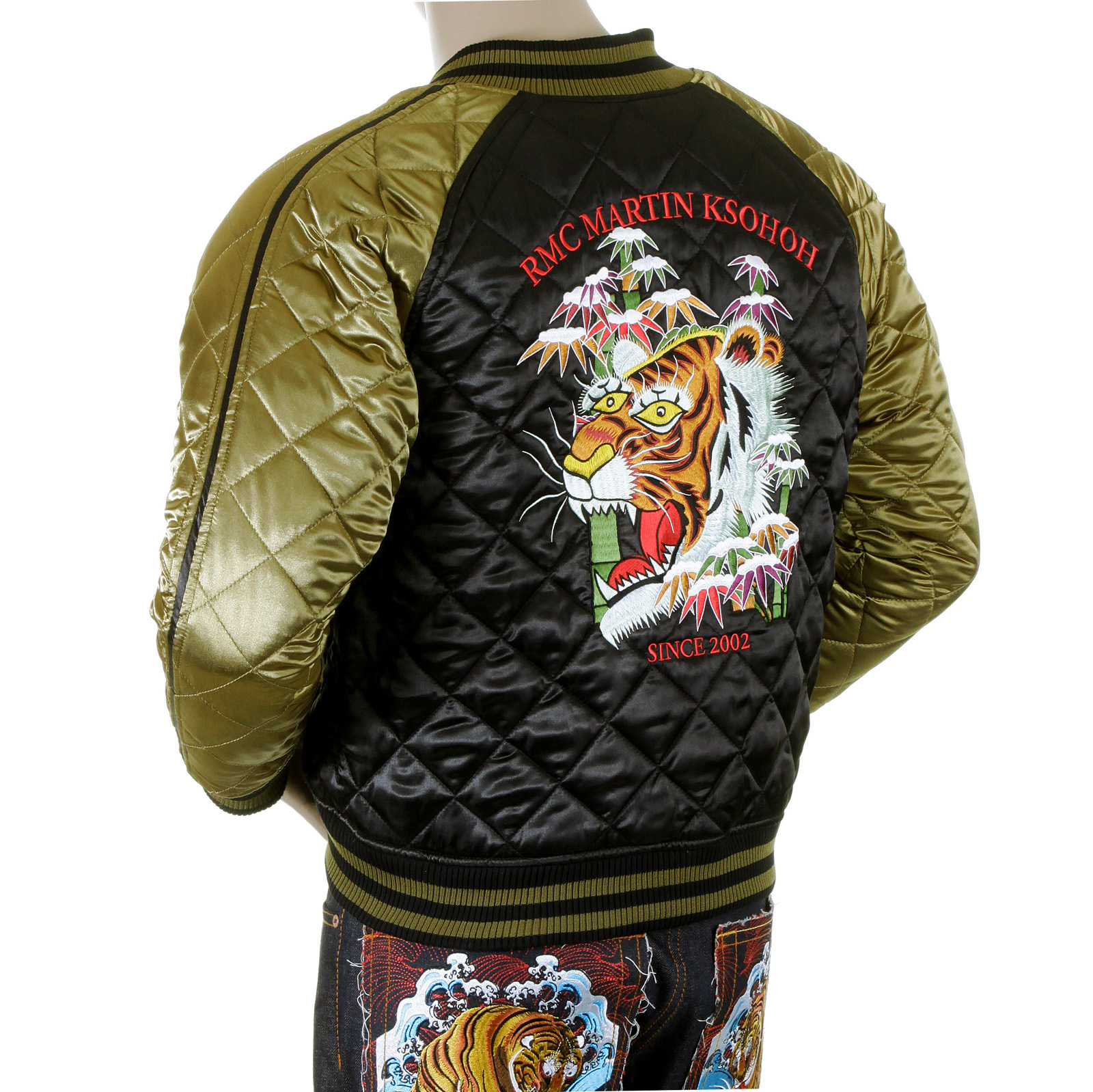 Buy Red Monkey Fully Reversible Quilted Souvenir Jacket At