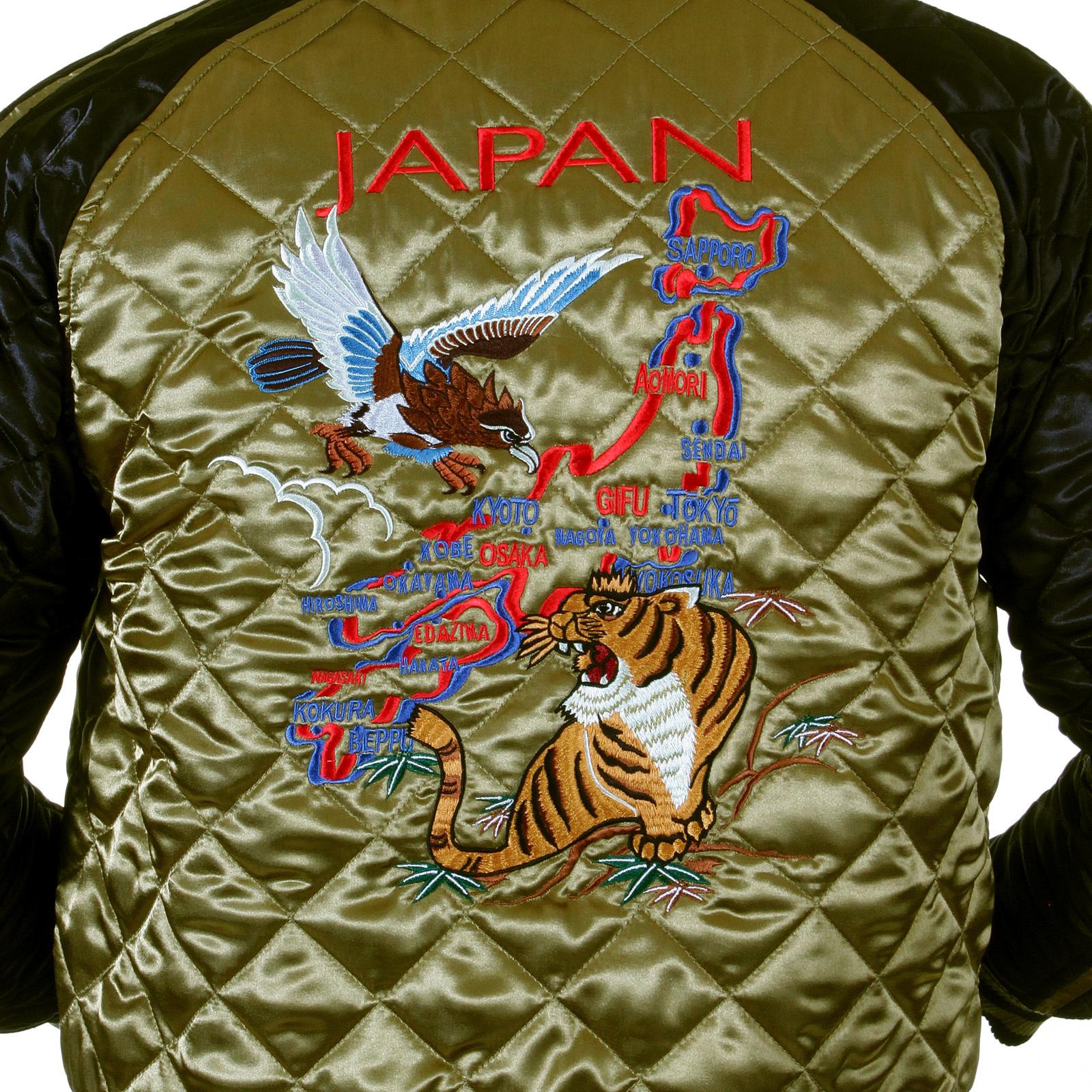 87dc4ab711c Yoropiko Embroidered Fully Reversible Souvenir Letterman Jacket