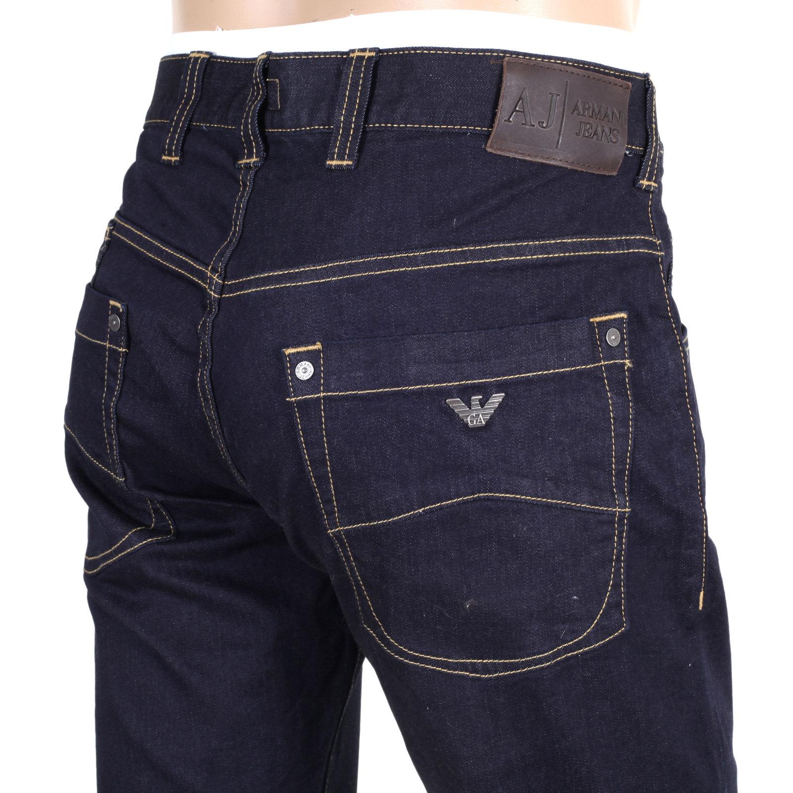 Dark Denim Low Rise Jeans for Men by Armani Jeans UK