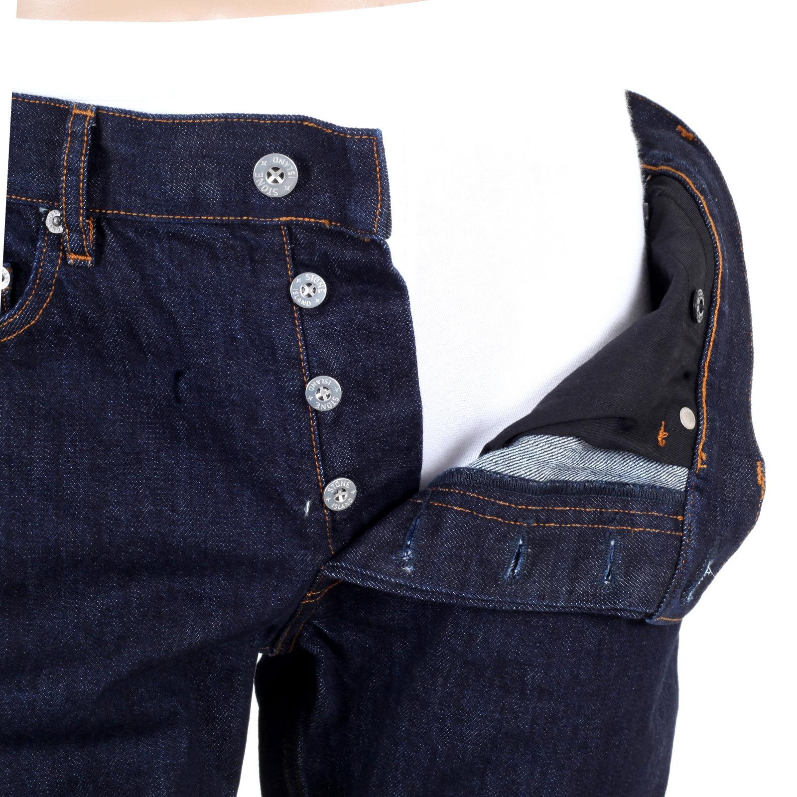 Stylish Dark Wash Stone Island Denim Jeans for Men