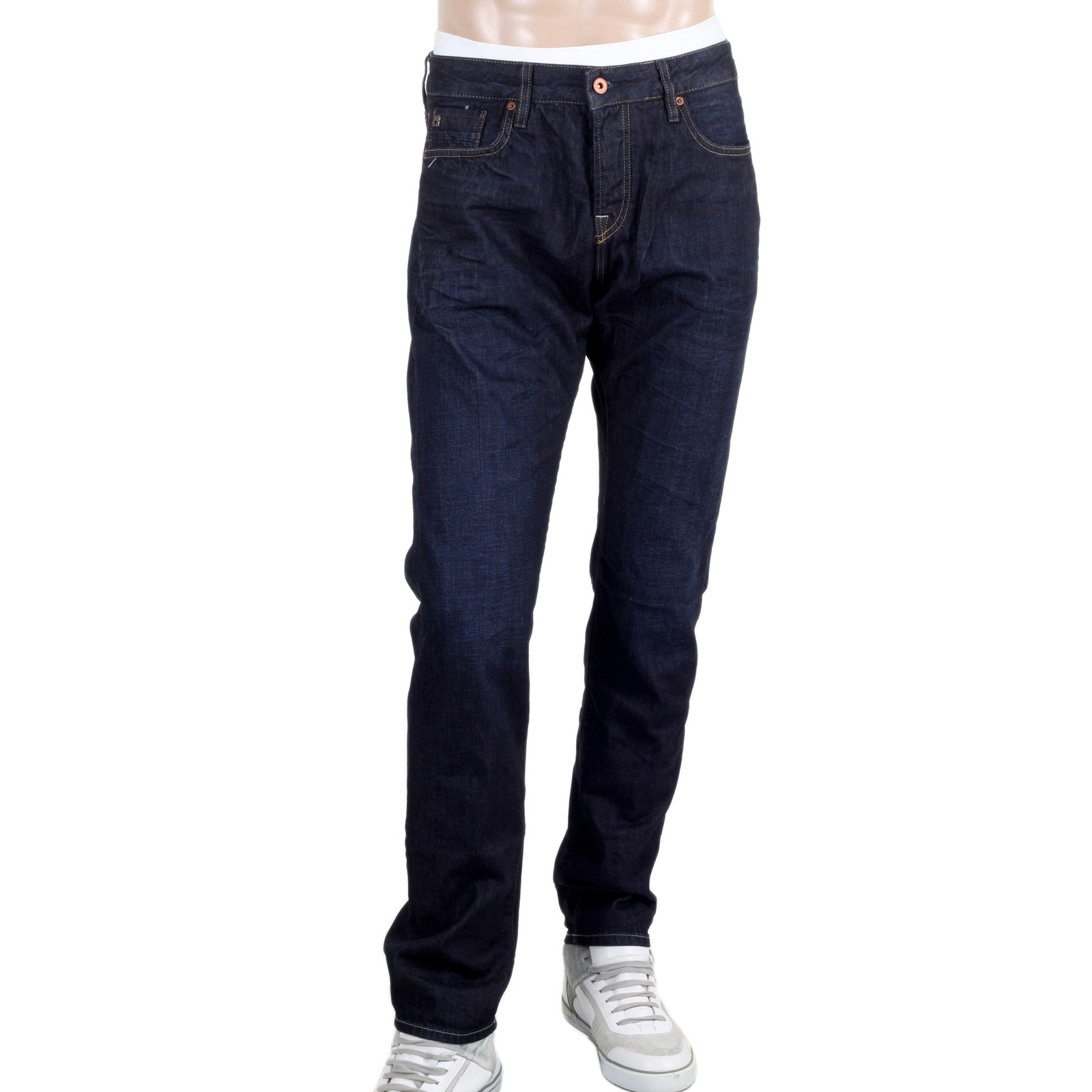 scotch and soda slim fit jeans with creased patches. Black Bedroom Furniture Sets. Home Design Ideas