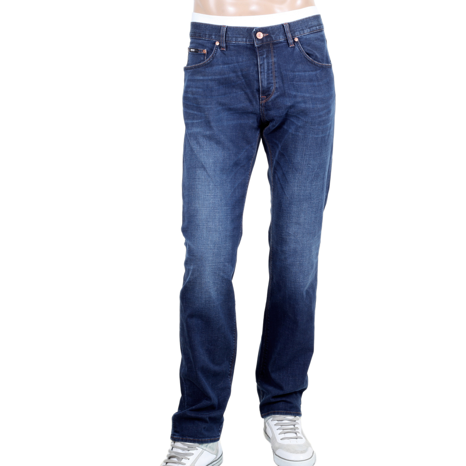 Regular Fit Stretch Denim Jeans for Men by Boss Black